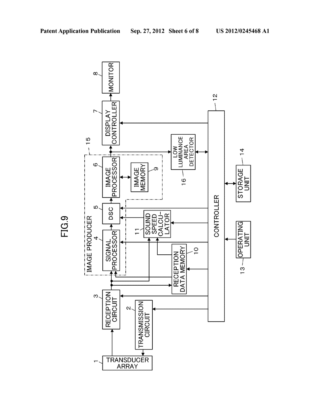 ULTRASOUND DIAGNOSTIC APPARATUS AND METHOD OF PRODUCING ULTRASOUND IMAGE - diagram, schematic, and image 07