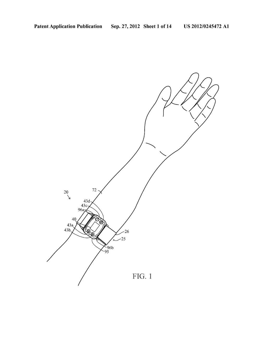 Monitoring Device With An Accelerometer, Method And System - diagram, schematic, and image 02