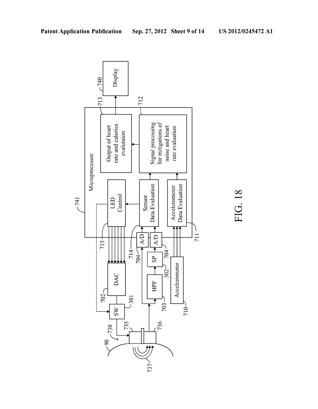 Monitoring Device With An Accelerometer, Method And System - diagram, schematic, and image 10