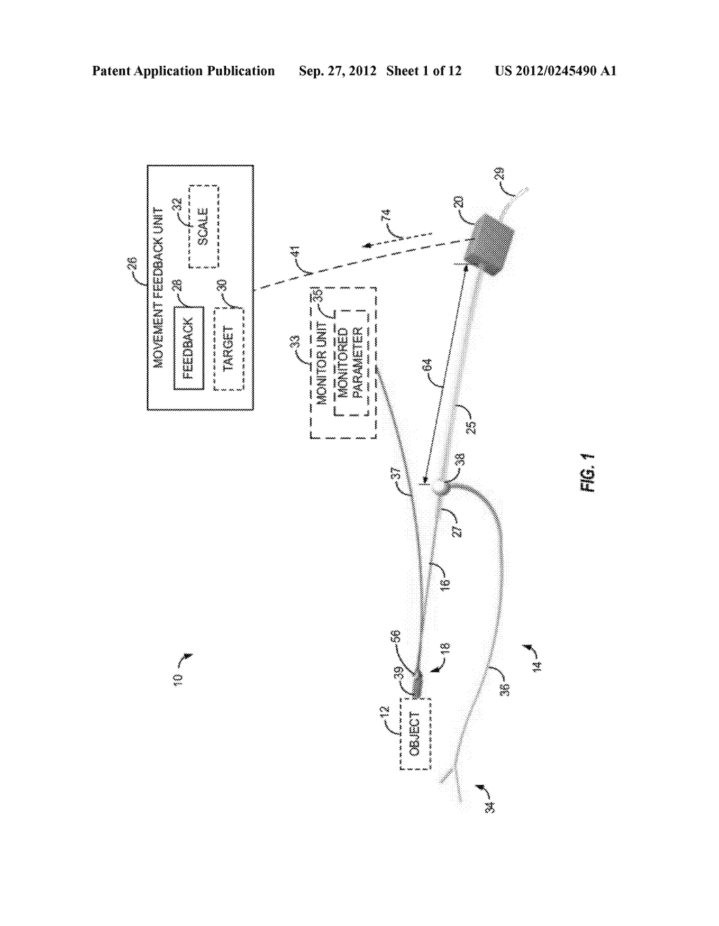 APPARATUS AND METHOD OF DETECTING MOVEMENT OF OBJECTS WITHIN THE ABDOMINAL     AND/OR PELVIC REGION - diagram, schematic, and image 02