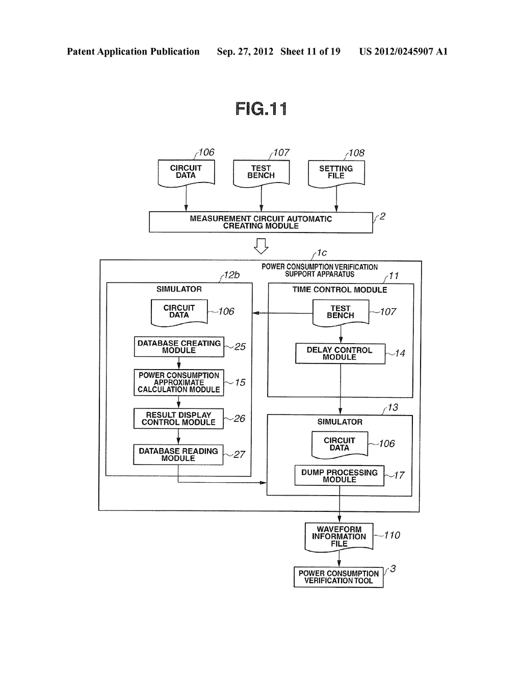 POWER CONSUMPTION VERIFICATION SUPPORT APPARATUS AND POWER CONSUMPTION     VERIFICATION SUPPORT METHOD - diagram, schematic, and image 12