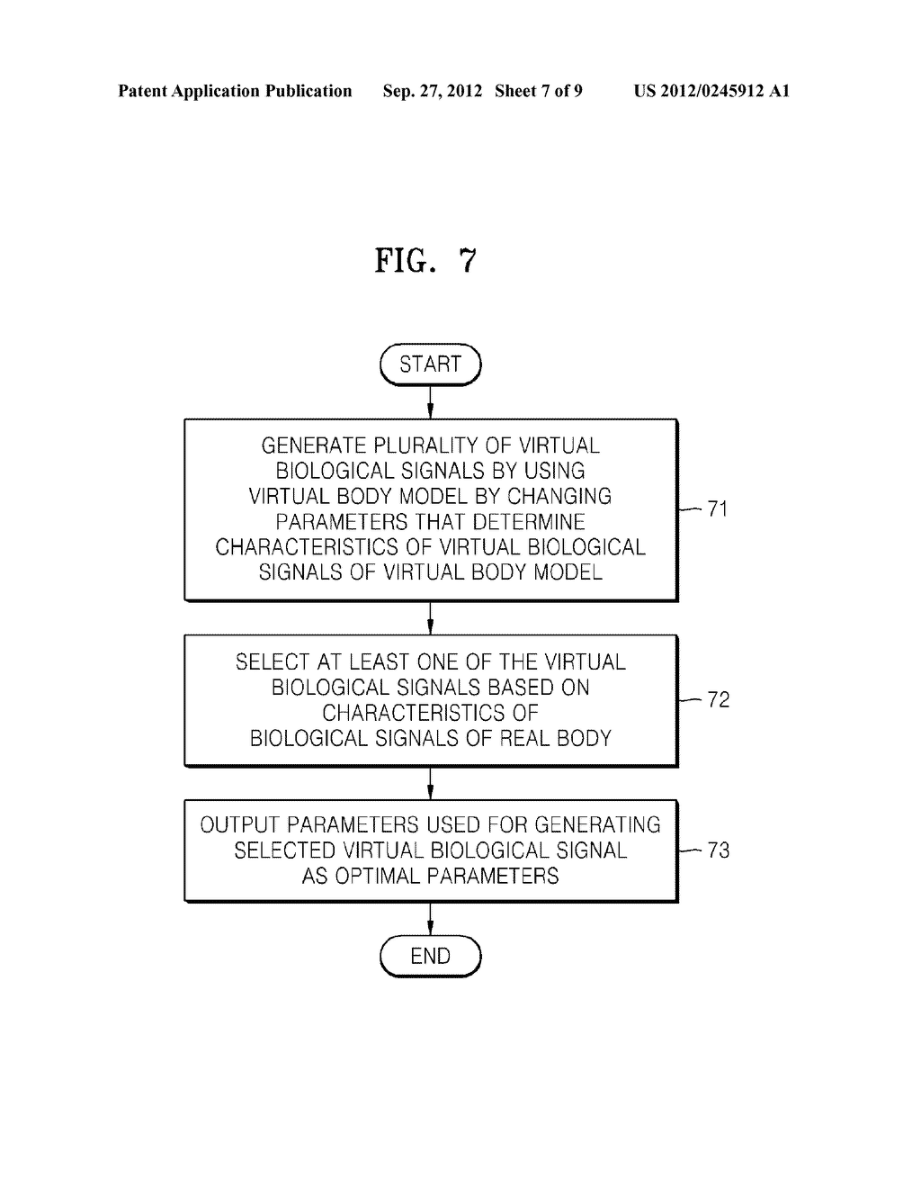 METHOD OF AND APPARATUS FOR DETERMINING OPTIMAL PARAMETERS FOR MEASURING     BIOLOGICAL SIGNALS BASED ON VIRTUAL BODY MODEL - diagram, schematic, and image 08