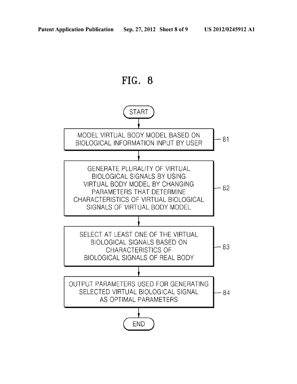 METHOD OF AND APPARATUS FOR DETERMINING OPTIMAL PARAMETERS FOR MEASURING     BIOLOGICAL SIGNALS BASED ON VIRTUAL BODY MODEL - diagram, schematic, and image 09