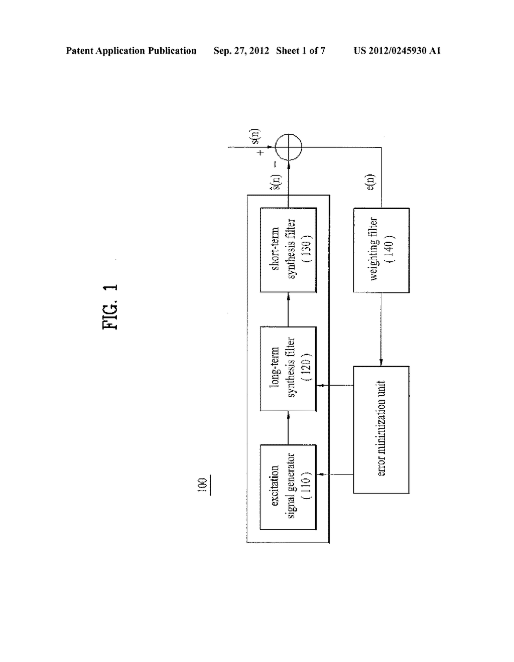 METHOD AND APPARATUS FOR ENCODING A SPEECH SIGNAL - diagram, schematic, and image 02
