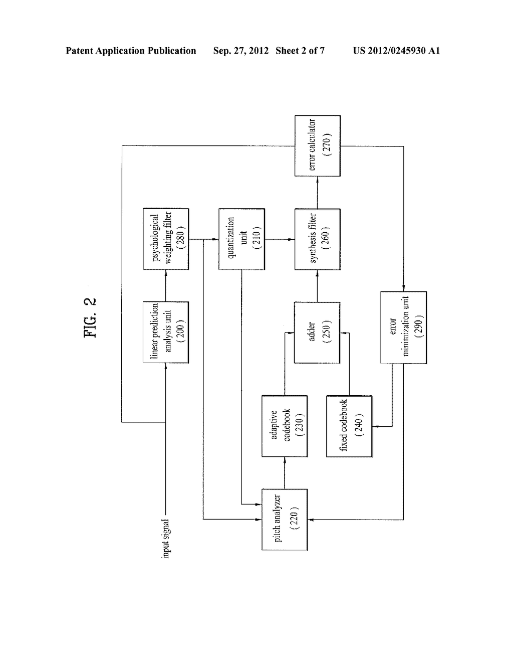METHOD AND APPARATUS FOR ENCODING A SPEECH SIGNAL - diagram, schematic, and image 03