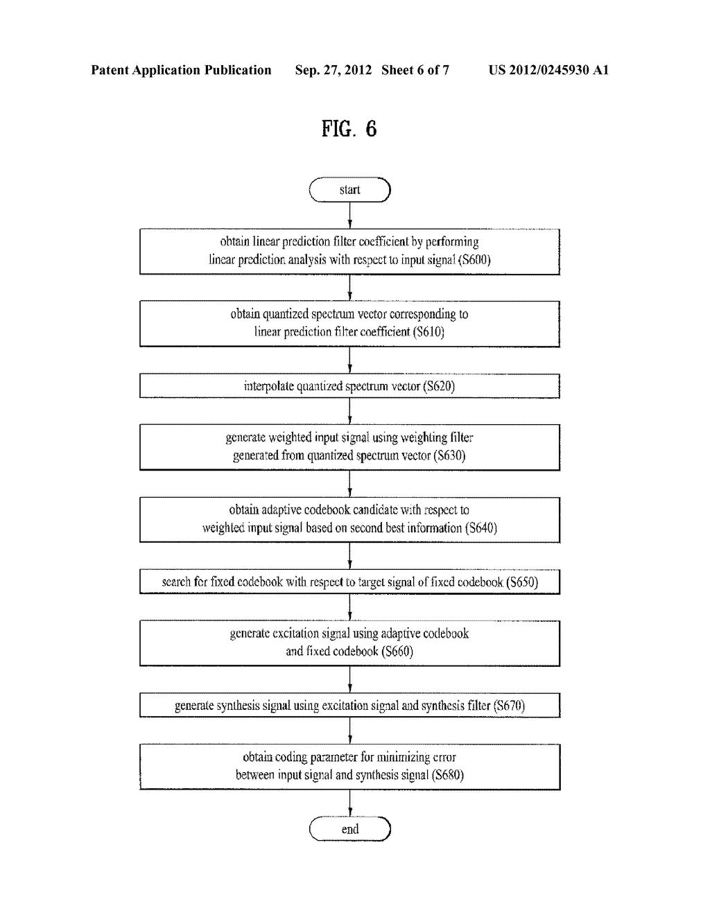 METHOD AND APPARATUS FOR ENCODING A SPEECH SIGNAL - diagram, schematic, and image 07