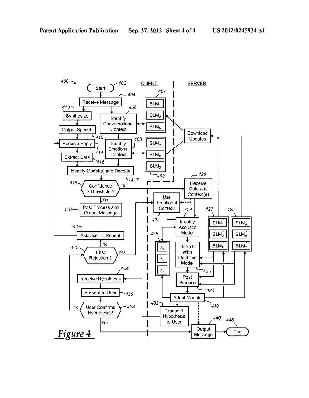 SPEECH RECOGNITION DEPENDENT ON TEXT MESSAGE CONTENT - diagram, schematic, and image 05