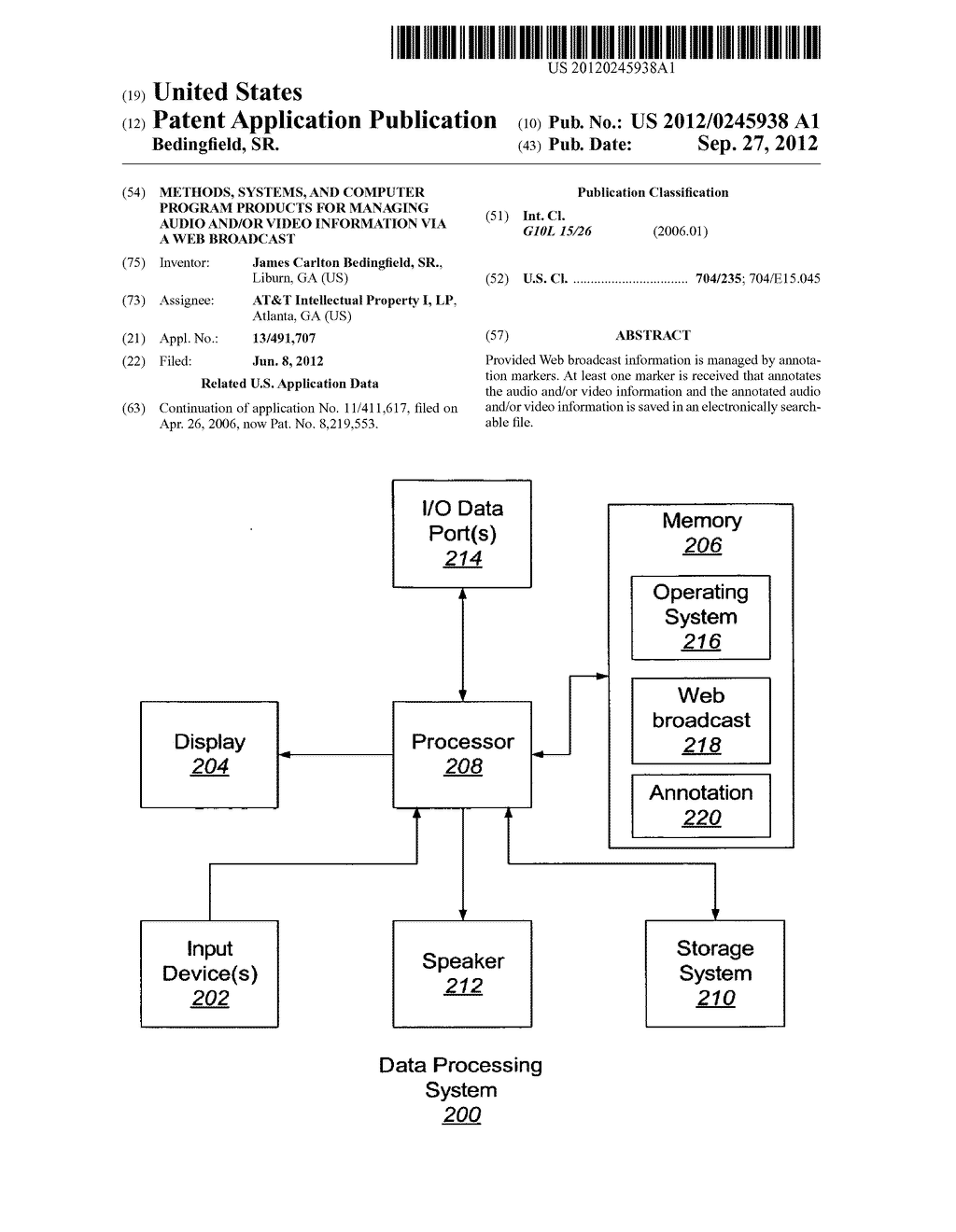 METHODS, SYSTEMS, AND COMPUTER PROGRAM PRODUCTS FOR MANAGING AUDIO AND/OR     VIDEO INFORMATION VIA A WEB BROADCAST - diagram, schematic, and image 01