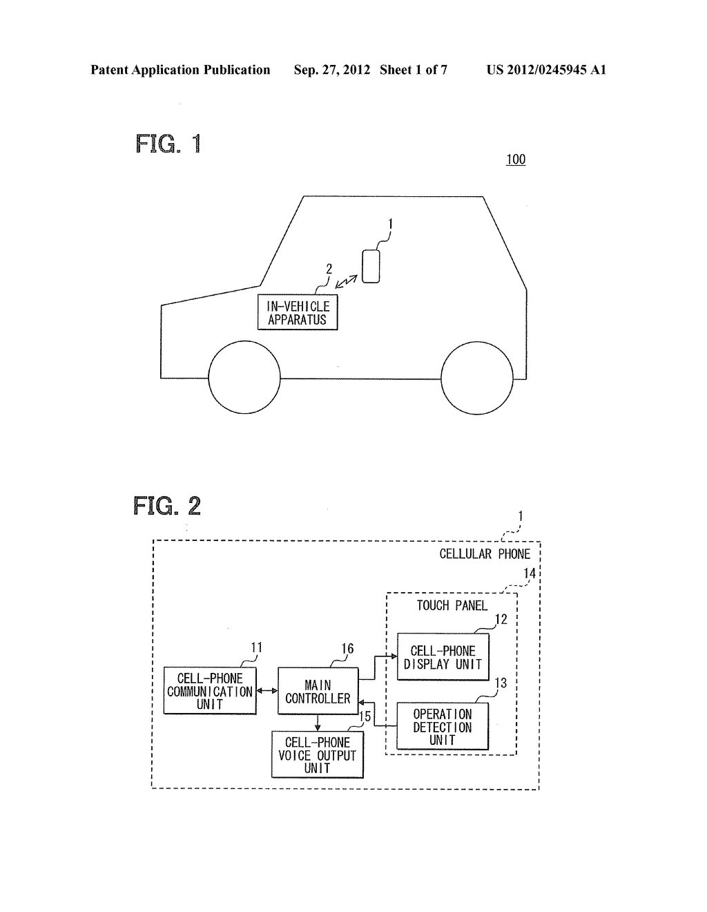 IN-VEHICLE APPARATUS AND INFORMATION DISPLAY SYSTEM - diagram, schematic, and image 02