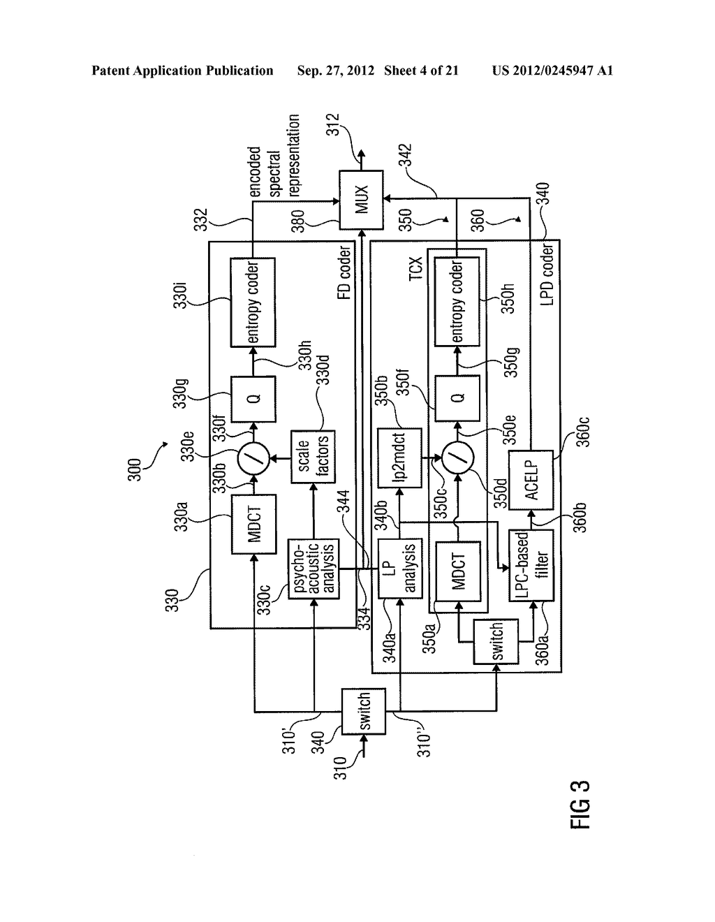 MULTI-MODE AUDIO SIGNAL DECODER, MULTI-MODE AUDIO SIGNAL ENCODER, METHODS     AND COMPUTER PROGRAM USING A LINEAR-PREDICTION-CODING BASED NOISE SHAPING - diagram, schematic, and image 05