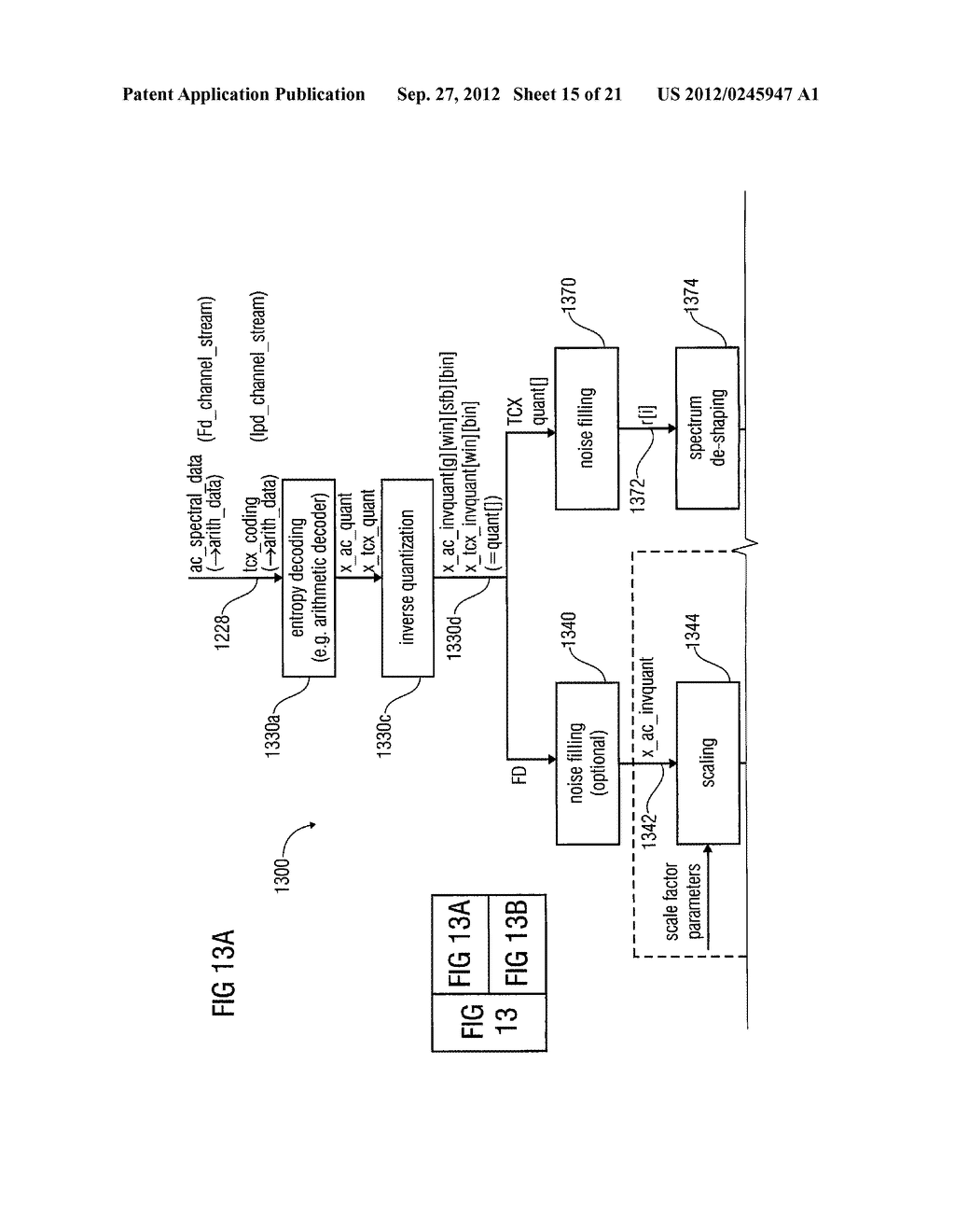 MULTI-MODE AUDIO SIGNAL DECODER, MULTI-MODE AUDIO SIGNAL ENCODER, METHODS     AND COMPUTER PROGRAM USING A LINEAR-PREDICTION-CODING BASED NOISE SHAPING - diagram, schematic, and image 16