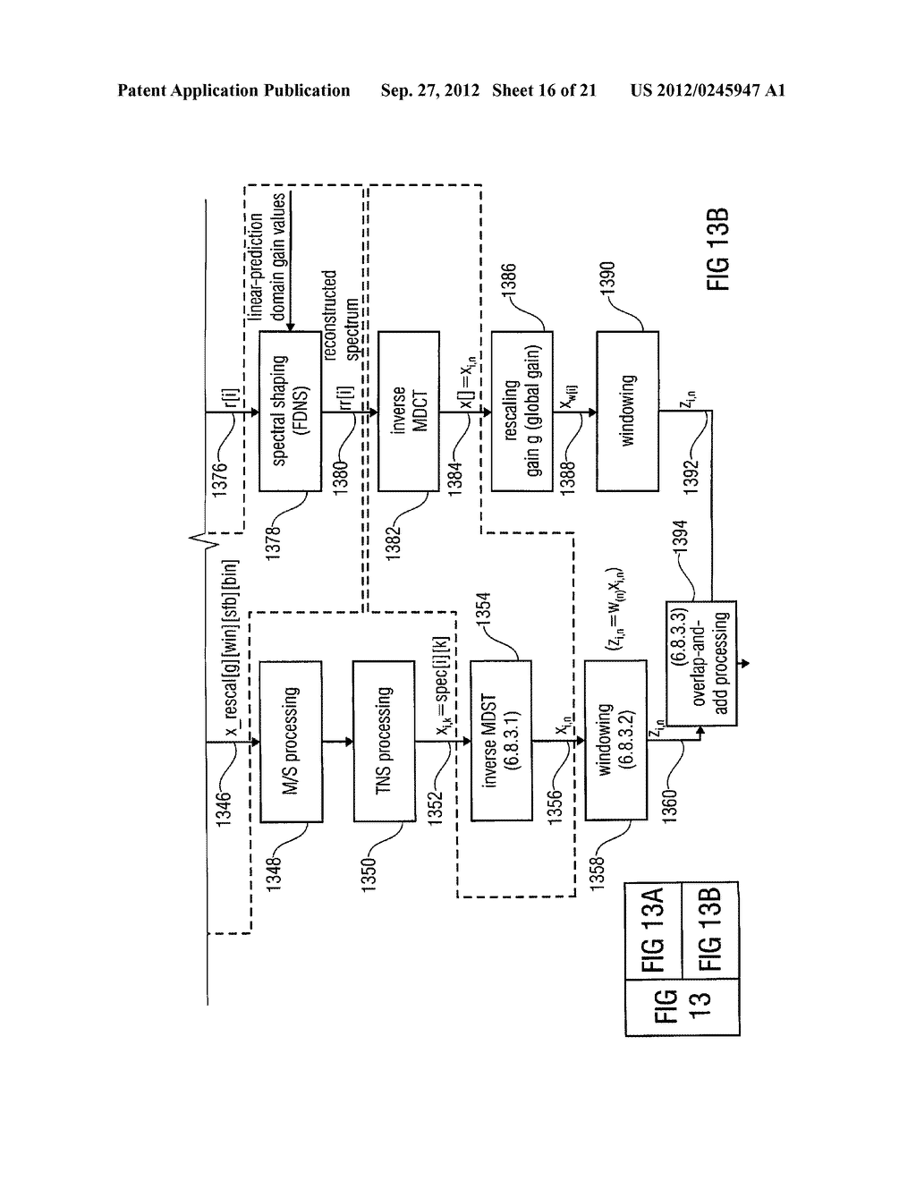 MULTI-MODE AUDIO SIGNAL DECODER, MULTI-MODE AUDIO SIGNAL ENCODER, METHODS     AND COMPUTER PROGRAM USING A LINEAR-PREDICTION-CODING BASED NOISE SHAPING - diagram, schematic, and image 17