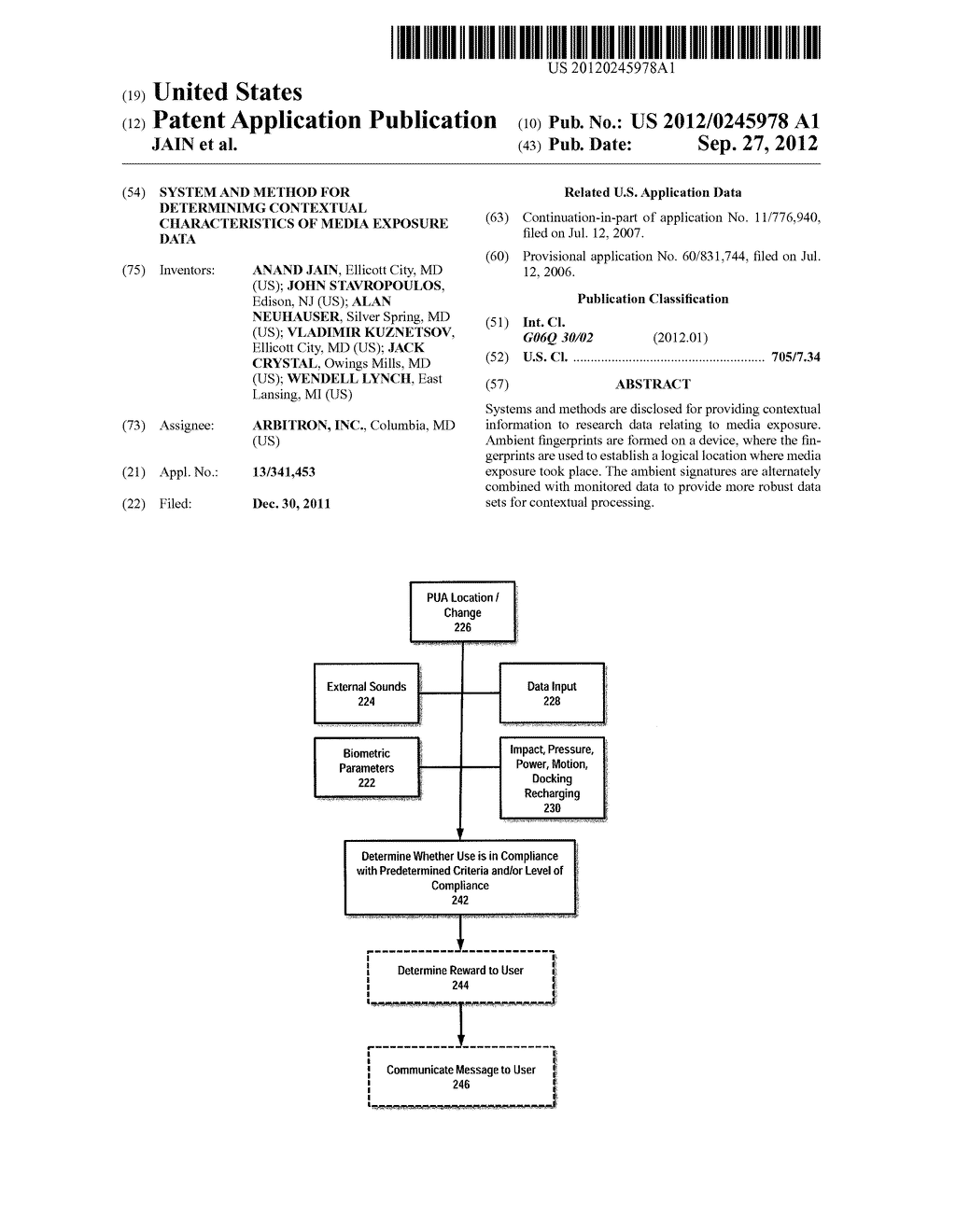 SYSTEM AND METHOD FOR DETERMINIMG CONTEXTUAL CHARACTERISTICS OF MEDIA     EXPOSURE DATA - diagram, schematic, and image 01