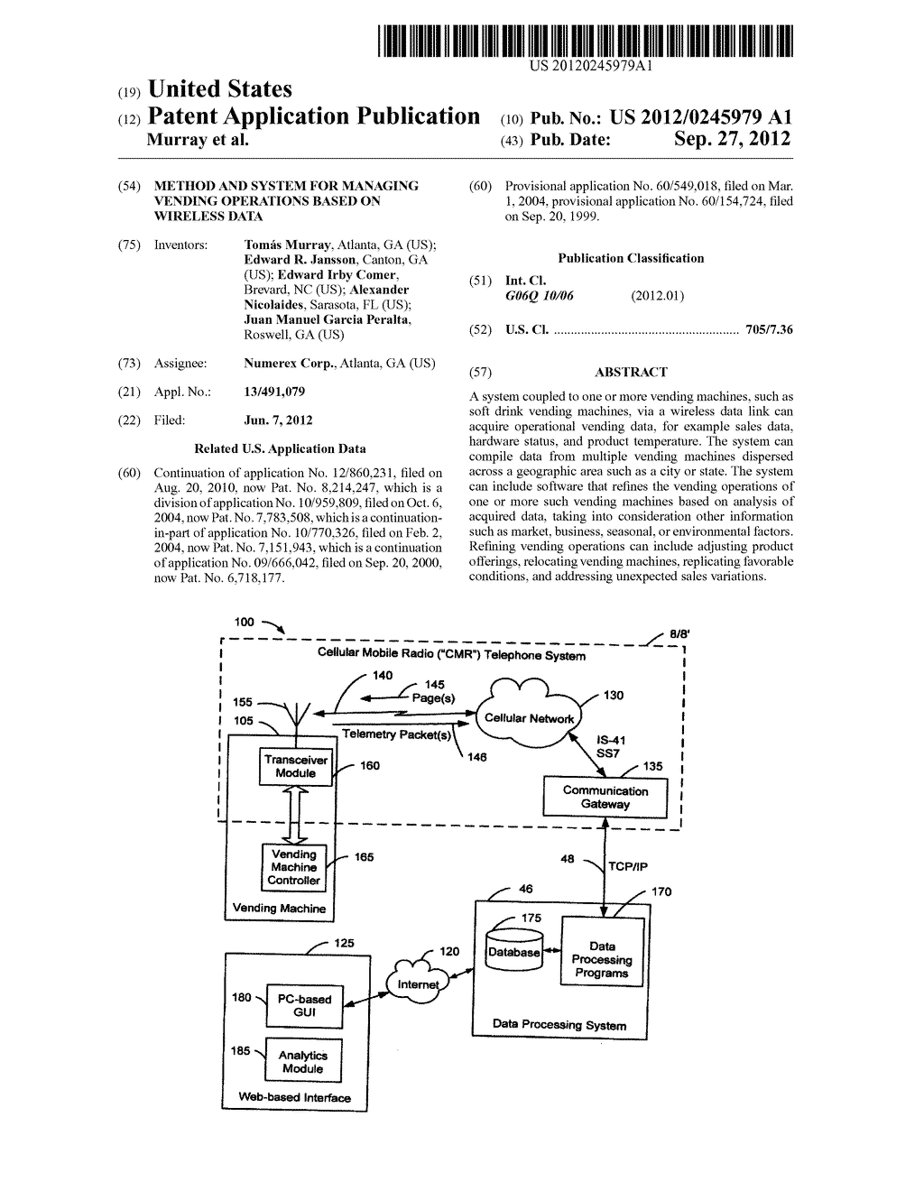 Method and System for Managing Vending Operations Based on Wireless Data - diagram, schematic, and image 01