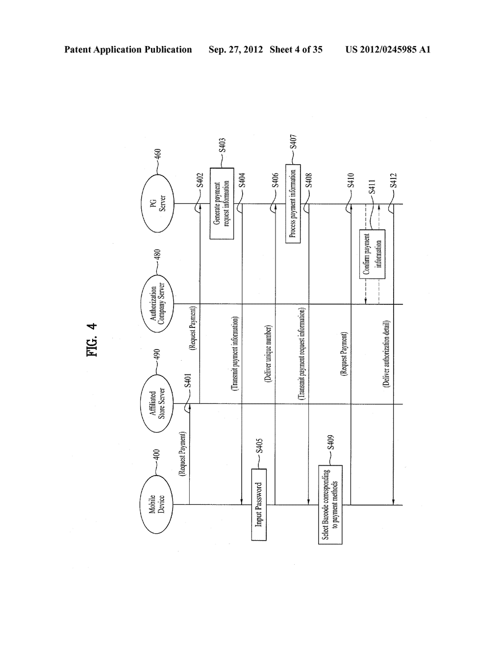 METHOD OF CONTROLLING SYSTEM AND MOBILE DEVICE FOR PROCESSING PAYMENT AND     DATA - diagram, schematic, and image 05