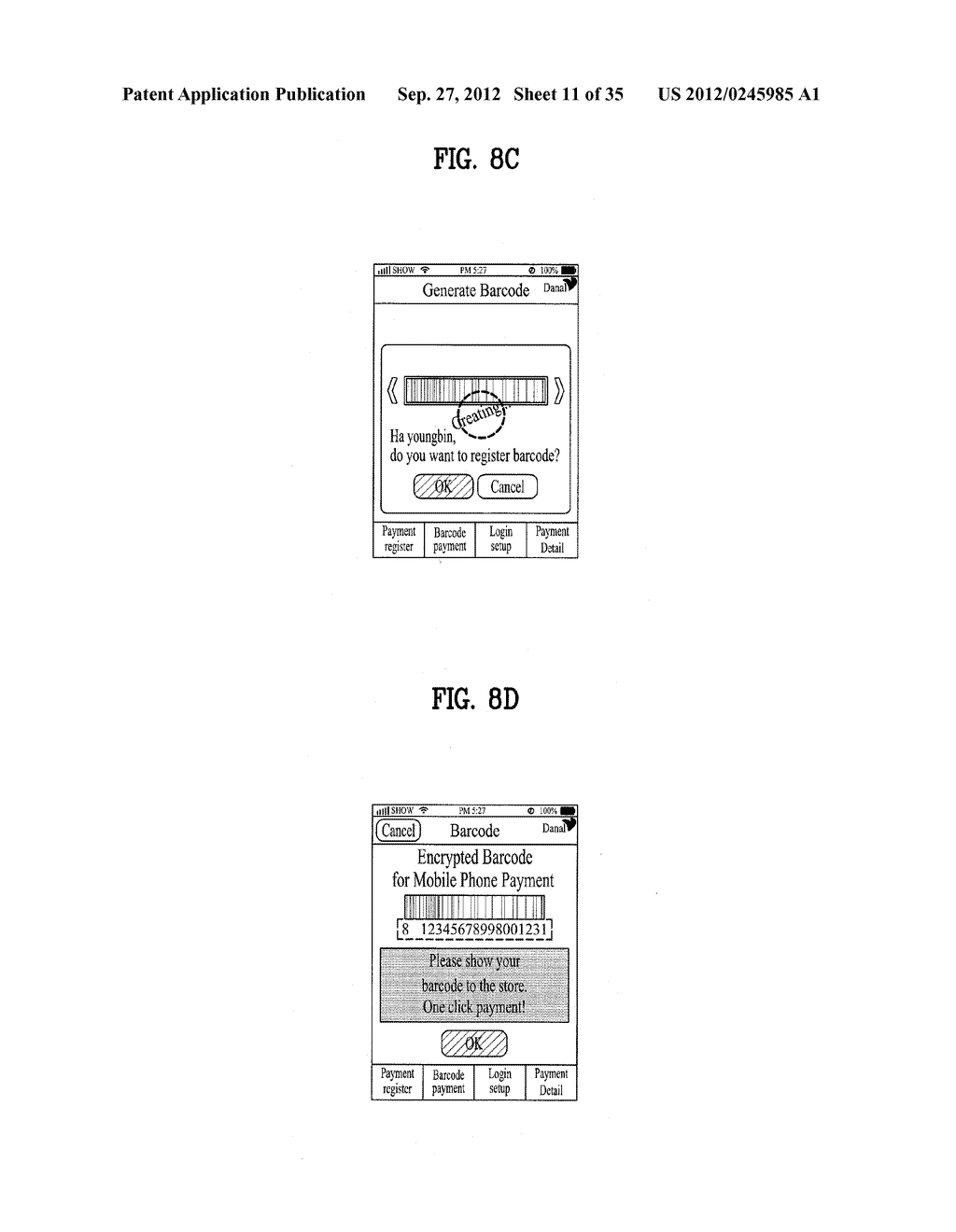 METHOD OF CONTROLLING SYSTEM AND MOBILE DEVICE FOR PROCESSING PAYMENT AND     DATA - diagram, schematic, and image 12