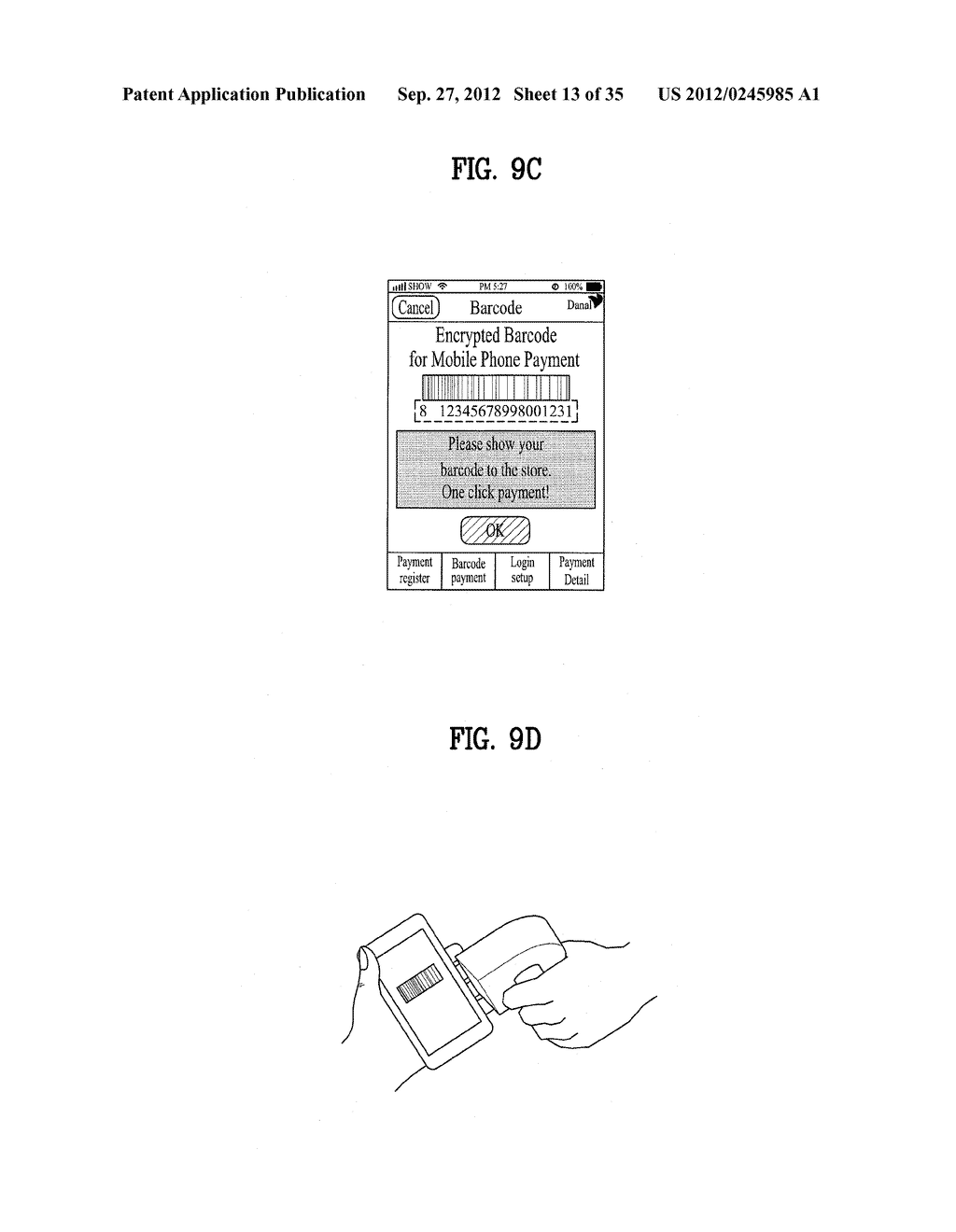 METHOD OF CONTROLLING SYSTEM AND MOBILE DEVICE FOR PROCESSING PAYMENT AND     DATA - diagram, schematic, and image 14