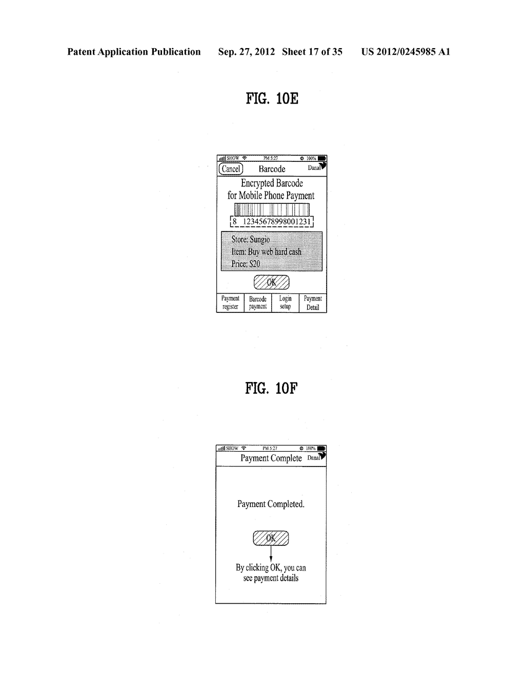 METHOD OF CONTROLLING SYSTEM AND MOBILE DEVICE FOR PROCESSING PAYMENT AND     DATA - diagram, schematic, and image 18