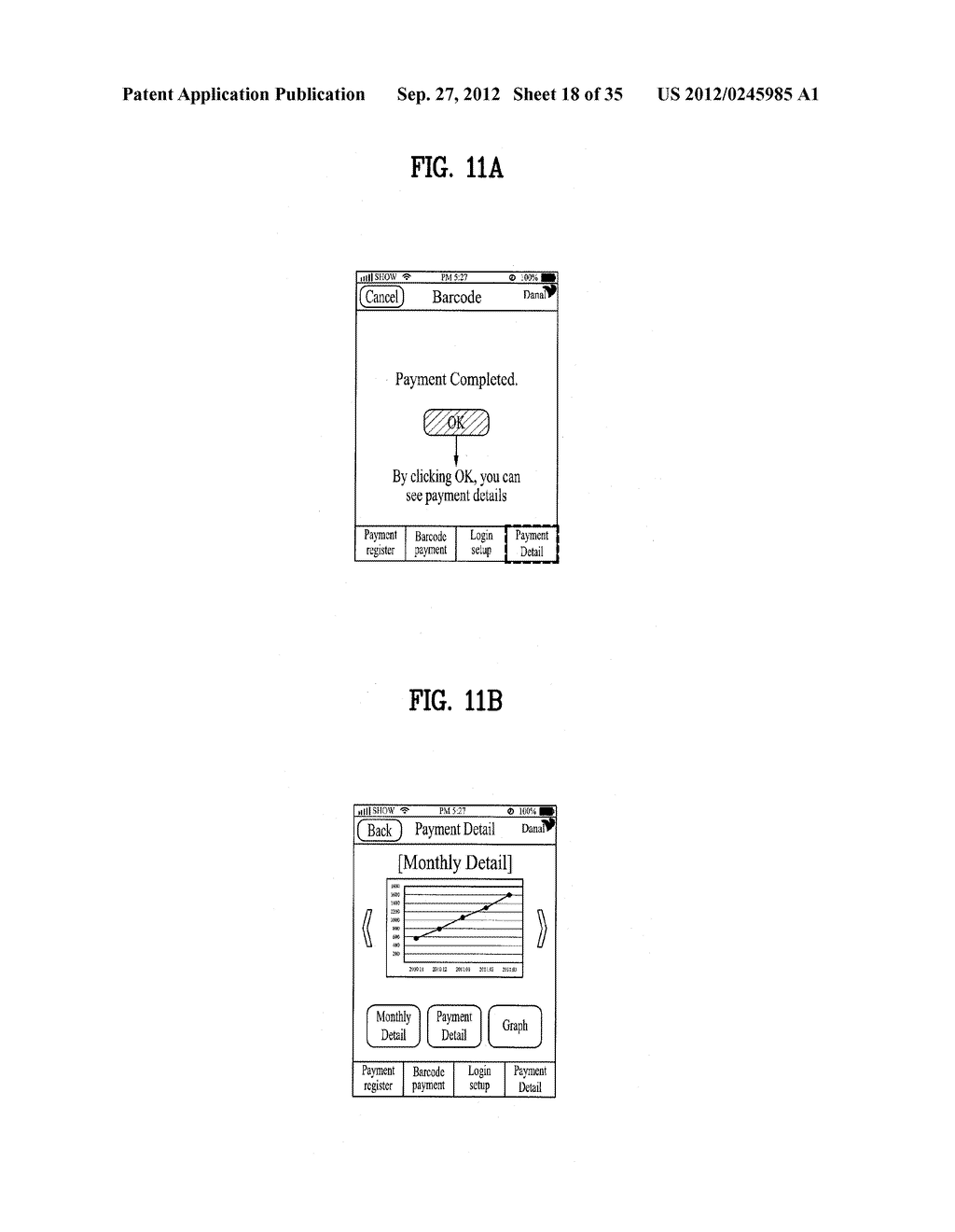 METHOD OF CONTROLLING SYSTEM AND MOBILE DEVICE FOR PROCESSING PAYMENT AND     DATA - diagram, schematic, and image 19