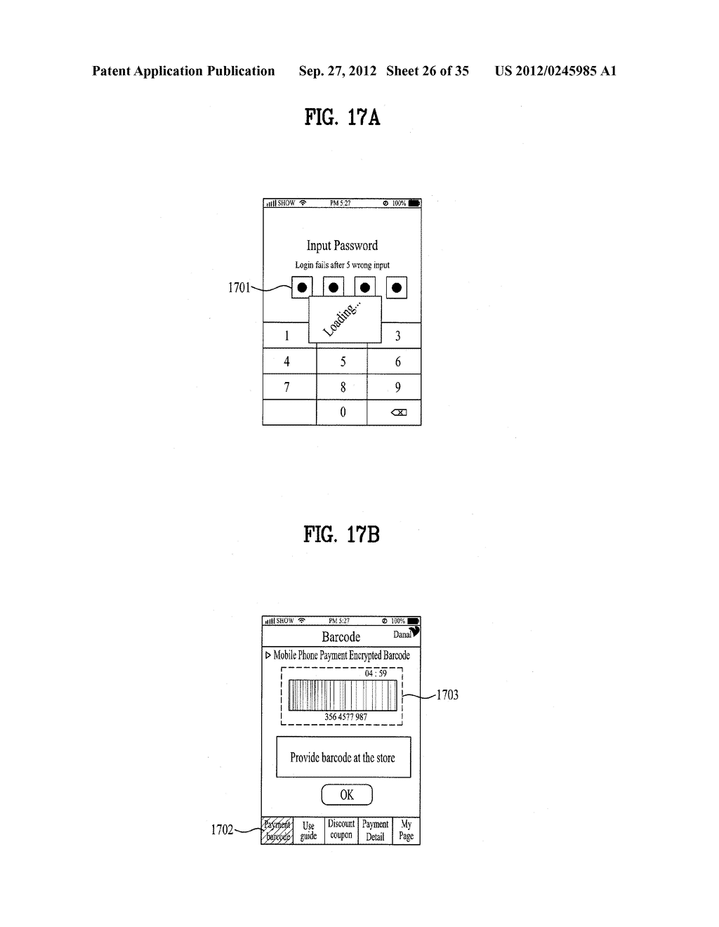 METHOD OF CONTROLLING SYSTEM AND MOBILE DEVICE FOR PROCESSING PAYMENT AND     DATA - diagram, schematic, and image 27