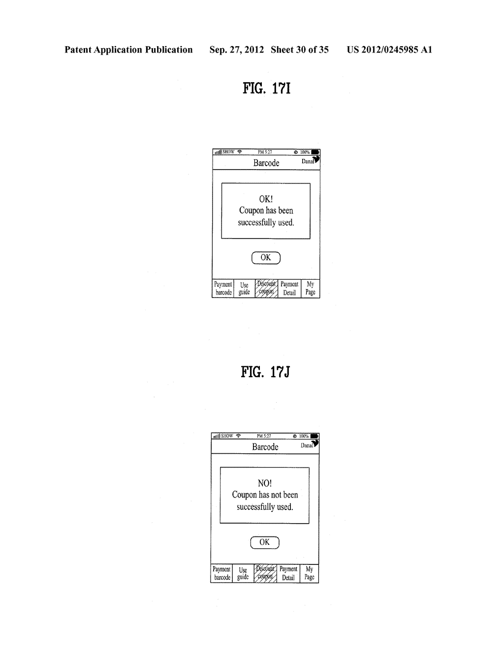 METHOD OF CONTROLLING SYSTEM AND MOBILE DEVICE FOR PROCESSING PAYMENT AND     DATA - diagram, schematic, and image 31
