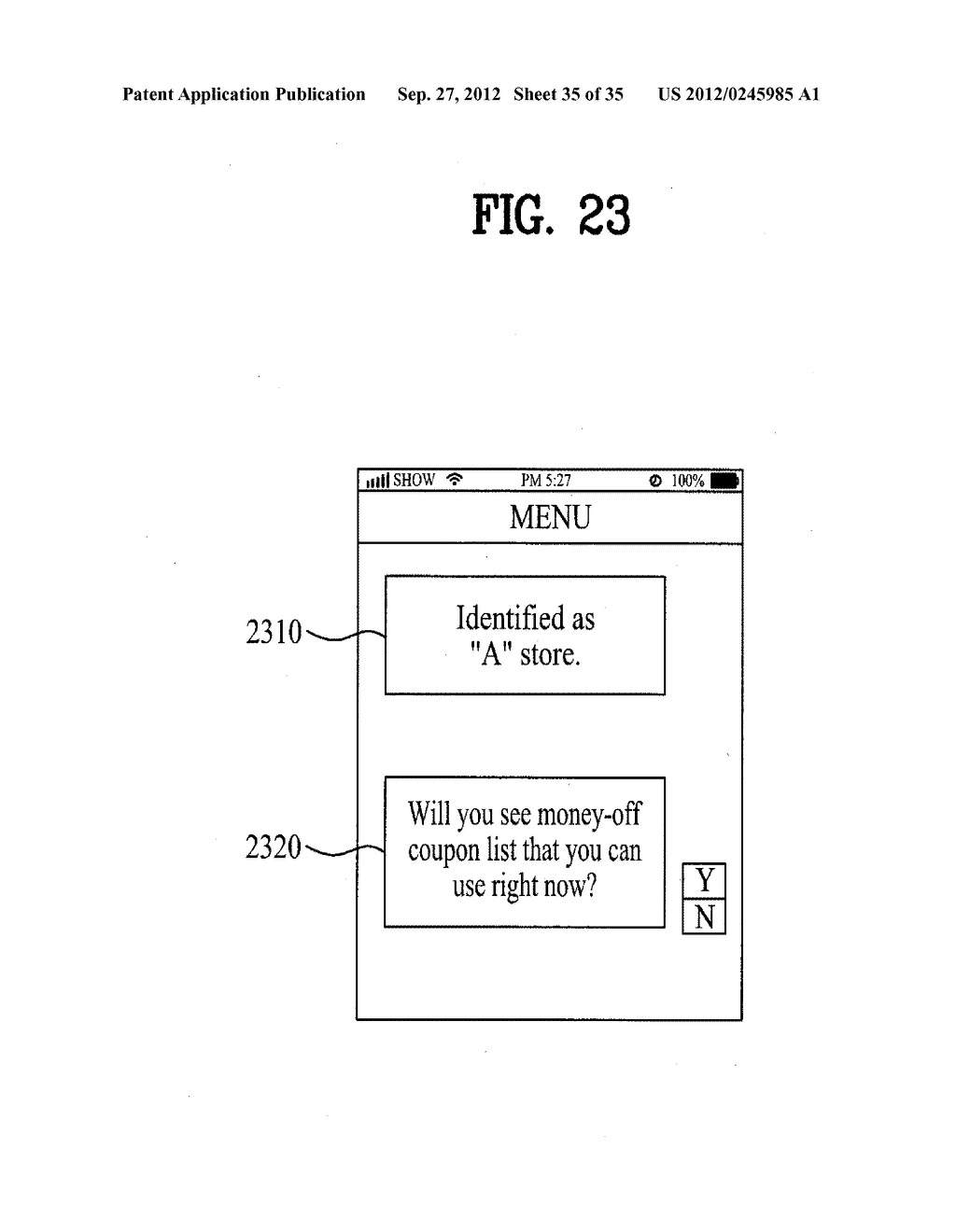 METHOD OF CONTROLLING SYSTEM AND MOBILE DEVICE FOR PROCESSING PAYMENT AND     DATA - diagram, schematic, and image 36