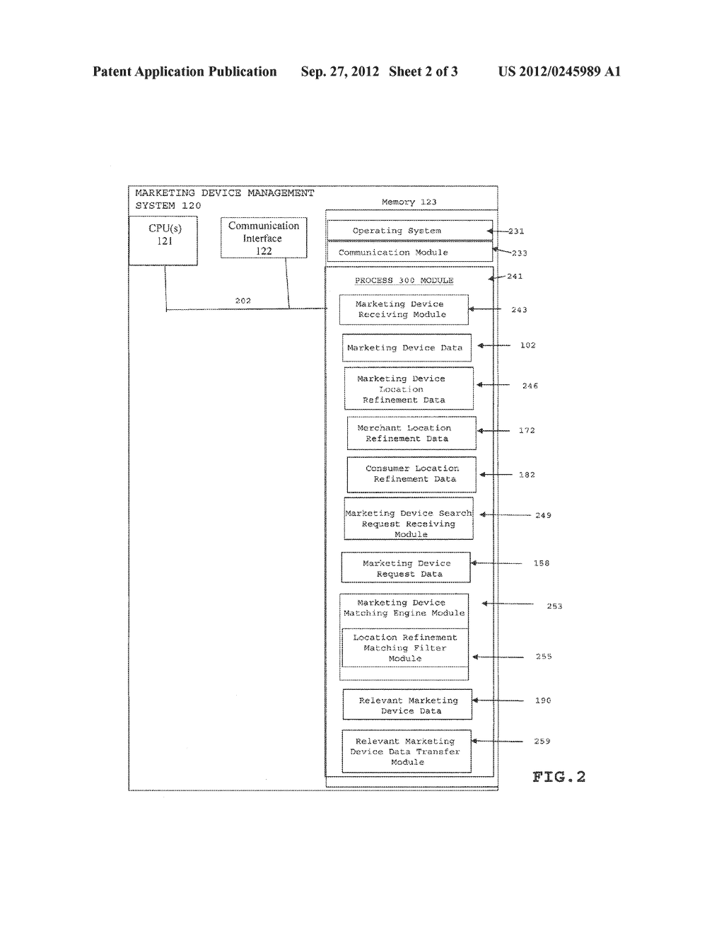 METHOD AND SYSTEM FOR PROVIDING REFINED LOCATION RELEVANT MARKETING     DEVICES - diagram, schematic, and image 03