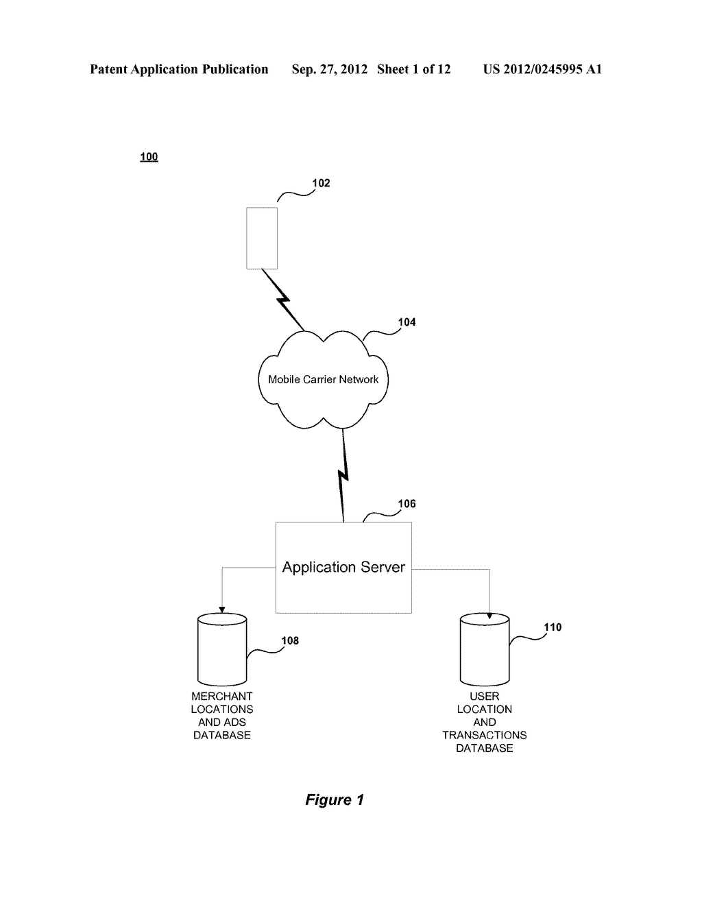 METHOD AND SYSTEM FOR ENABLING LOCATION BASED ADVERTISEMENTS WITH PAY FOR     PERFORMANCE - diagram, schematic, and image 02