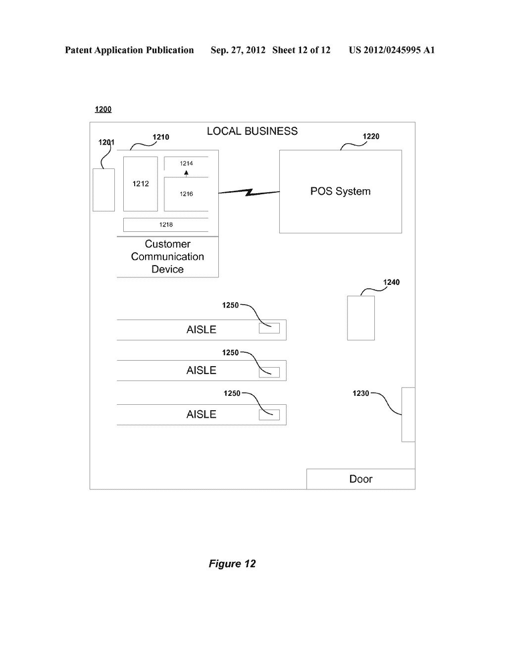 METHOD AND SYSTEM FOR ENABLING LOCATION BASED ADVERTISEMENTS WITH PAY FOR     PERFORMANCE - diagram, schematic, and image 13