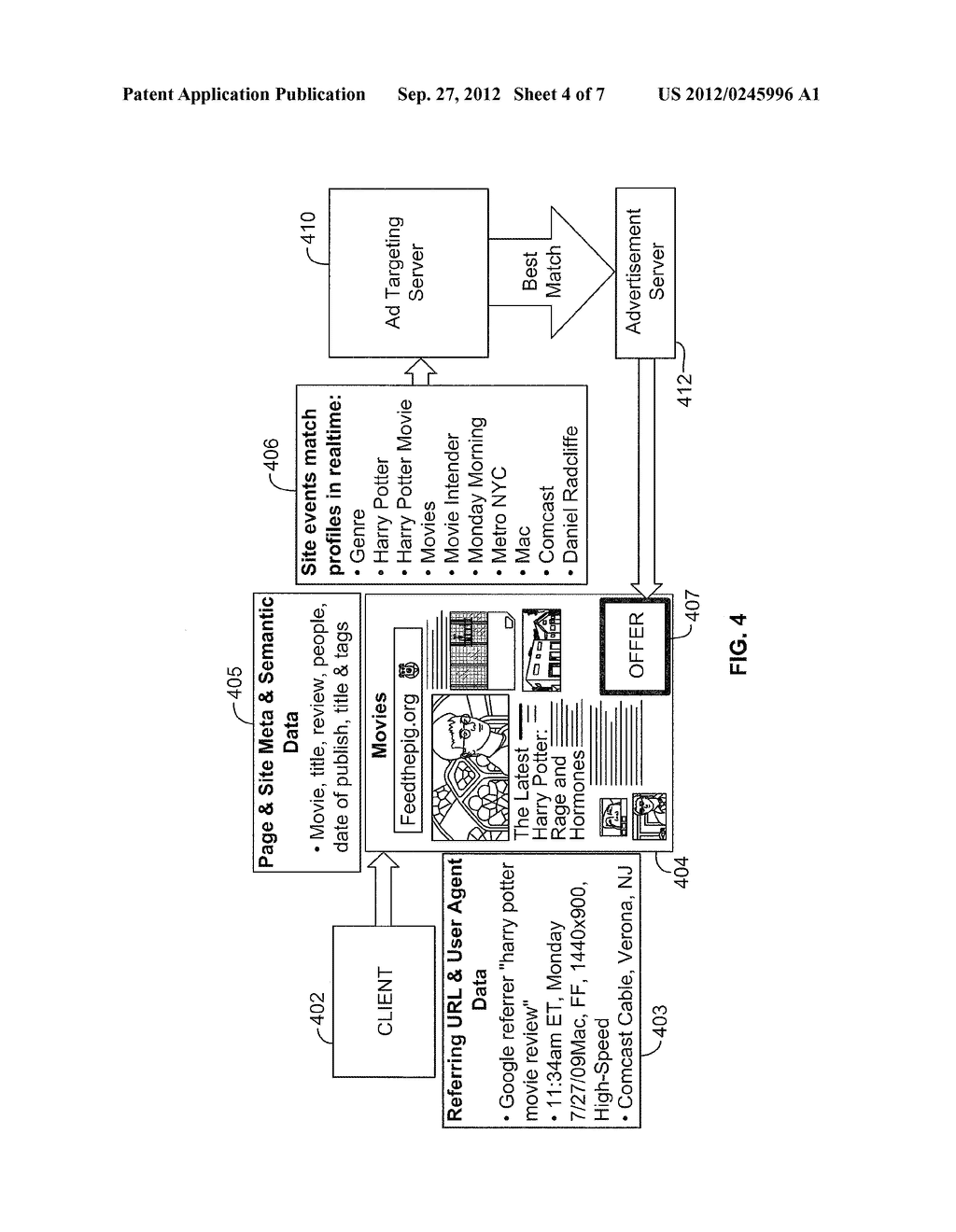 SYSTEM AND METHOD FOR INTENT-BASED CONTENT MATCHING - diagram, schematic, and image 05