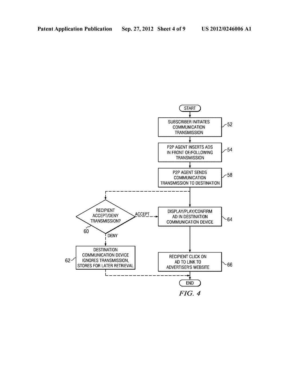 System and Method for Peer-To-Peer Advertising Between Mobile     Communication Devices - diagram, schematic, and image 05