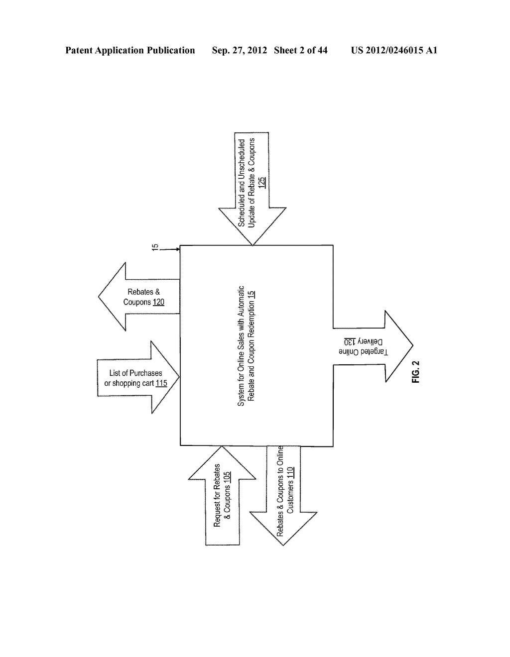 SYSTEM FOR ONLINE SALES WITH AUTOMATIC REBATE AND COUPON REDEMPTION - diagram, schematic, and image 03