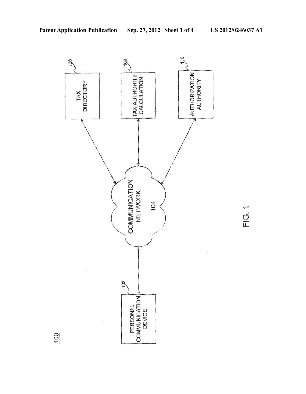 TRANSACTION TAX SETTLEMENT IN PERSONAL COMMUNICATION DEVICES - diagram, schematic, and image 02