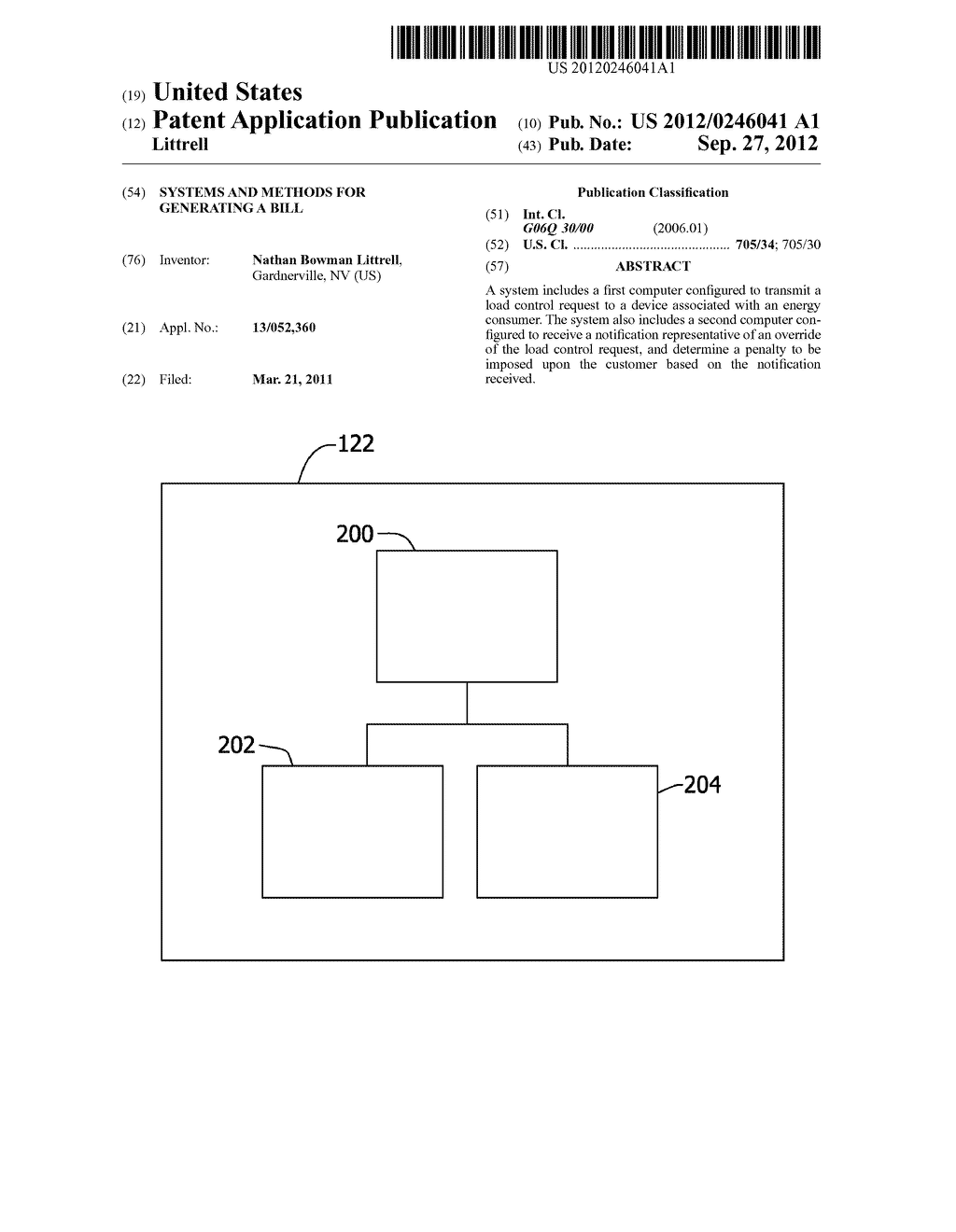 SYSTEMS AND METHODS FOR GENERATING A BILL - diagram, schematic, and image 01