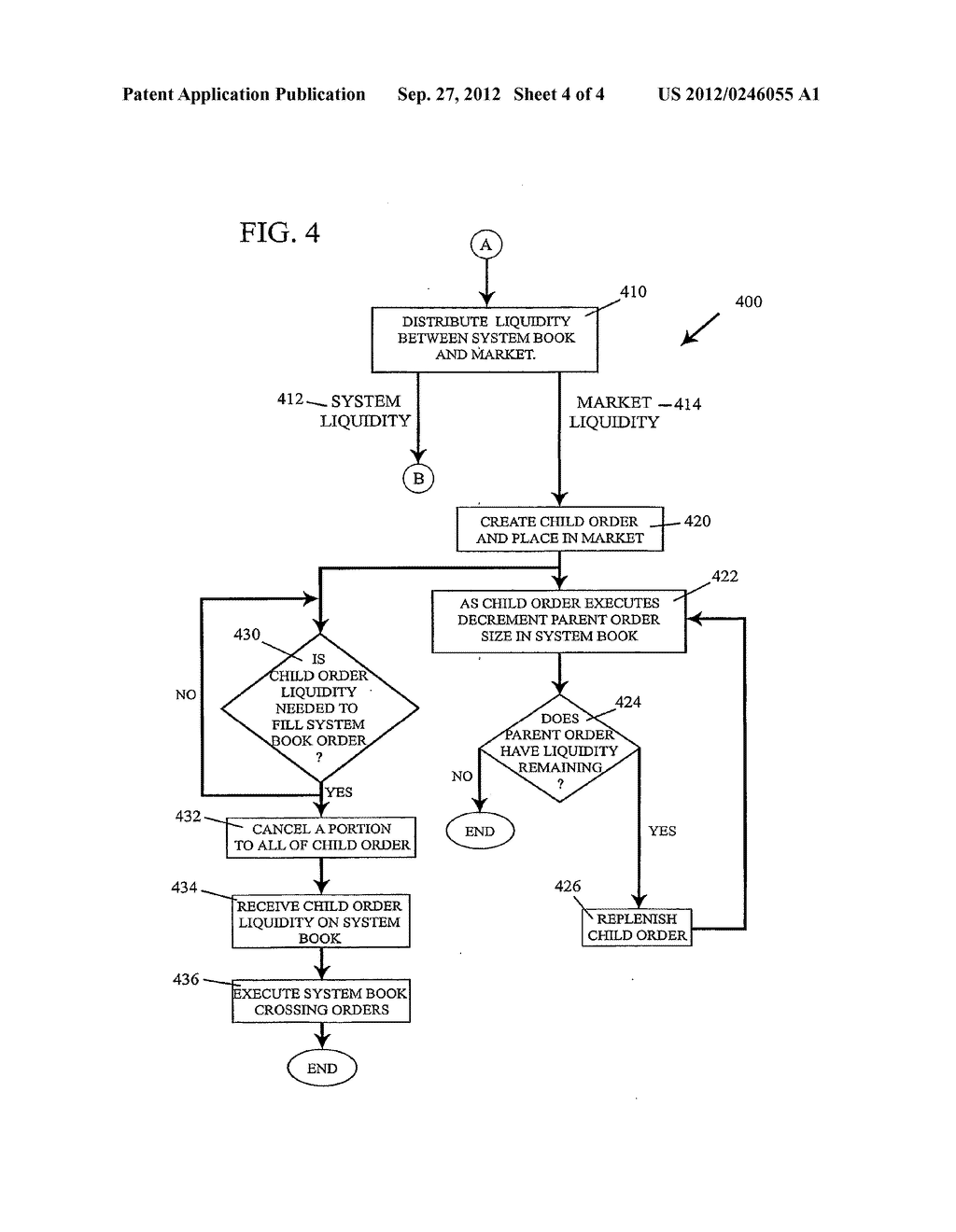 METHOD FOR CUSTOMIZED MARKET DATA DISSEMINATION IN SUPPORT OF HIDDEN-BOOK     ORDER PLACEMENT AND EXECUTION - diagram, schematic, and image 05