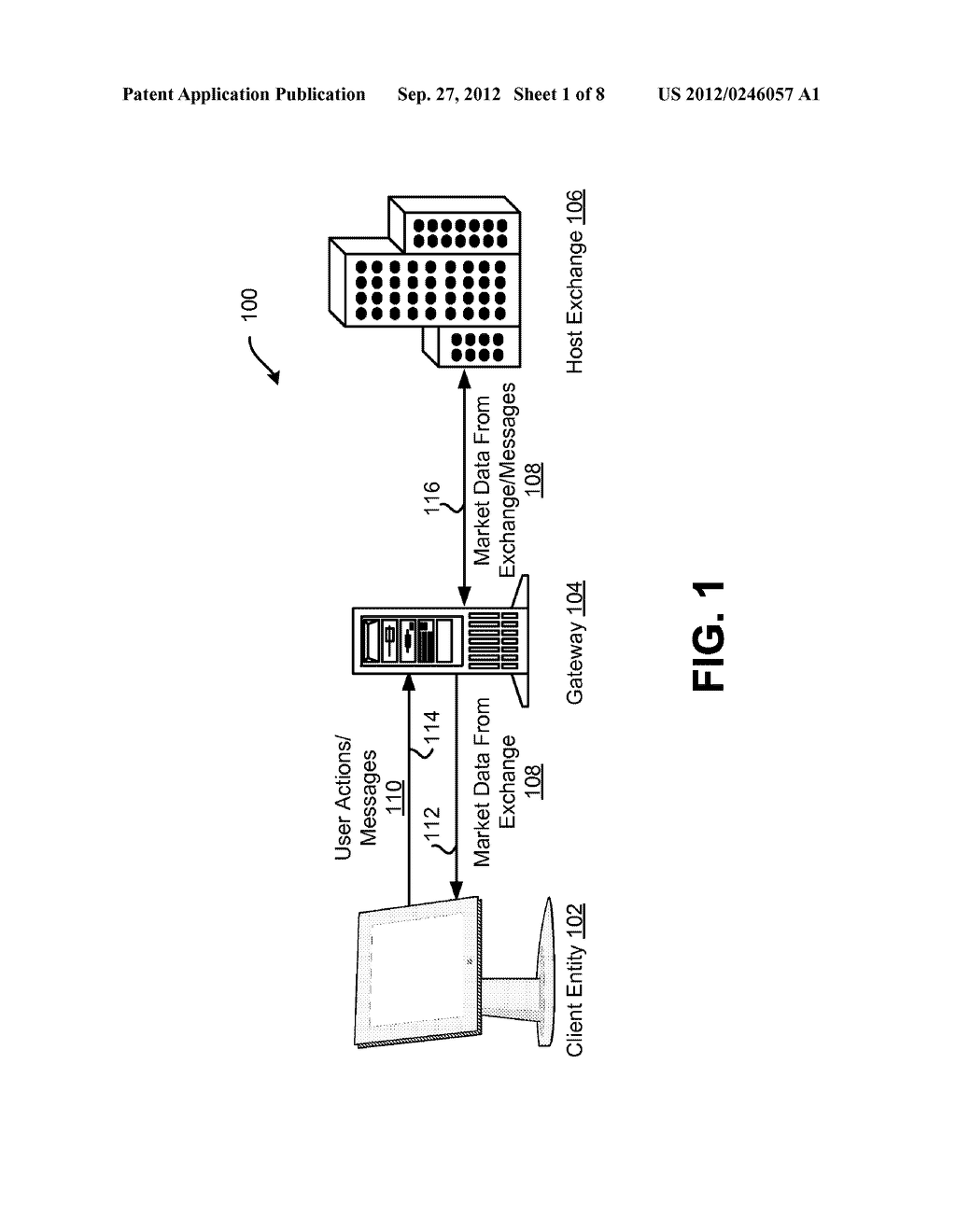 SYSTEM AND METHOD FOR PROVIDING MARKET DATA IN AN ELECTRONIC TRADING     ENVIRONMENT - diagram, schematic, and image 02