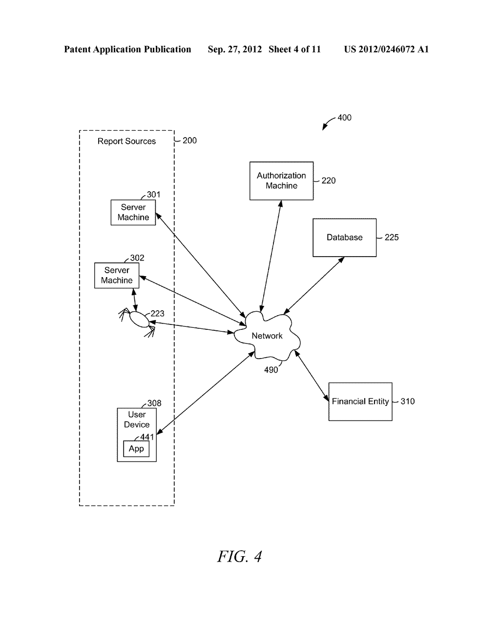 AUTHORIZING AN ADVANCE PAYMENT BASED ON PERFORMER DATA - diagram, schematic, and image 05