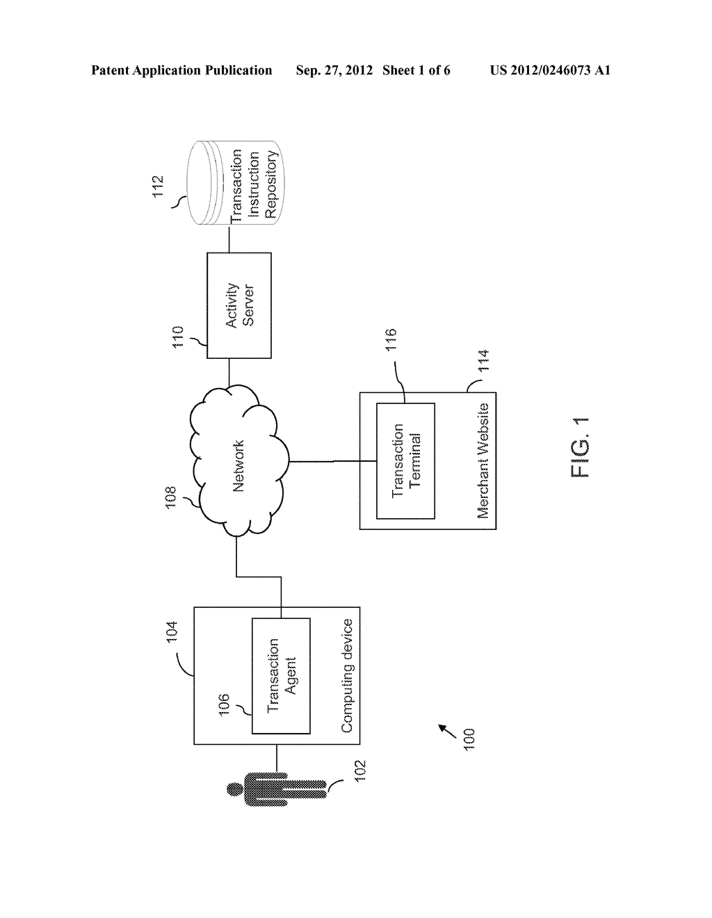 SYSTEMS AND METHODS FOR TRANSFERRING TRANSACTION INSTRUCTIONS FROM A     REMOTE REPOSITORY TO A MERCHANT WEBSITE USING A TRANSACTION AGENT - diagram, schematic, and image 02
