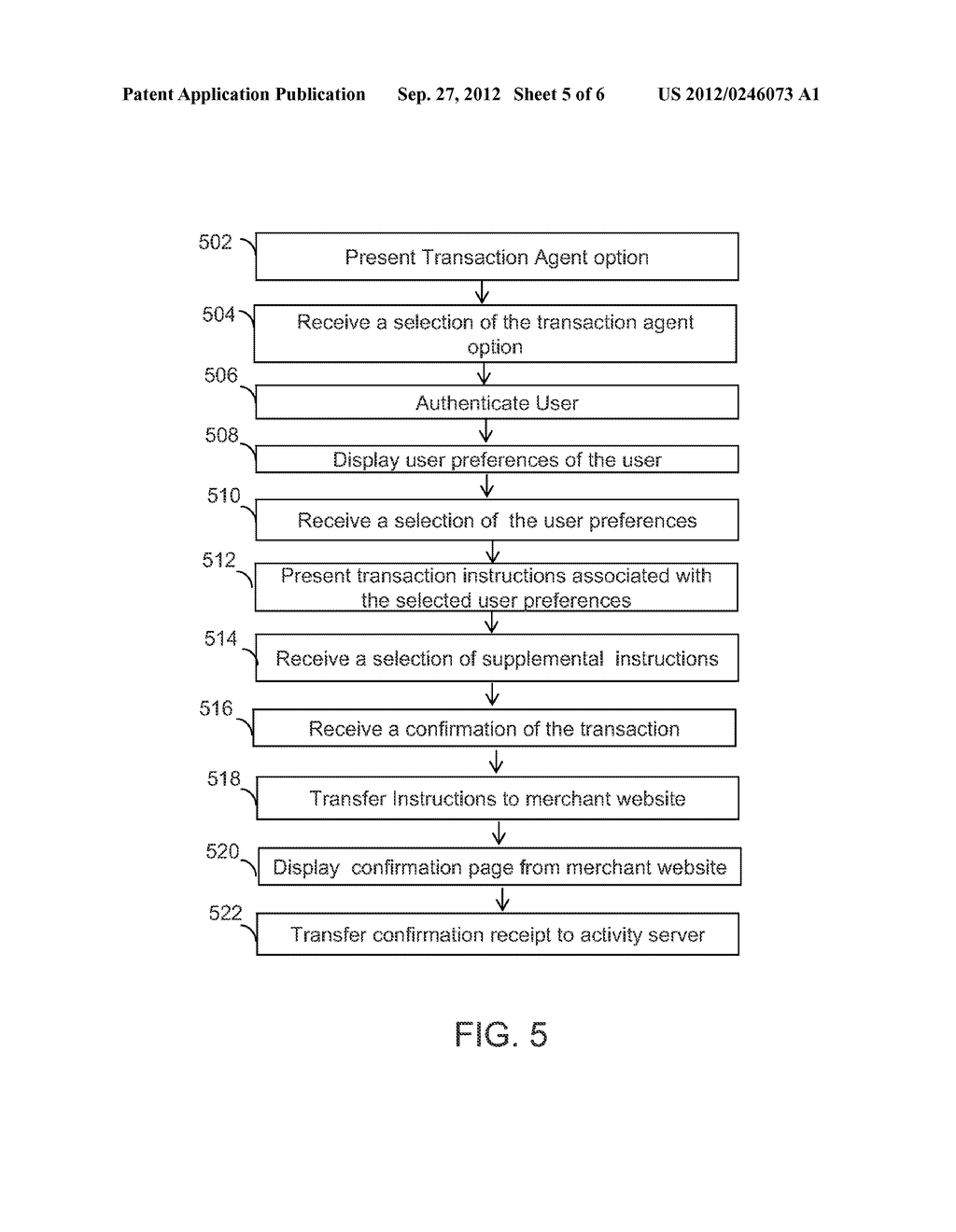 SYSTEMS AND METHODS FOR TRANSFERRING TRANSACTION INSTRUCTIONS FROM A     REMOTE REPOSITORY TO A MERCHANT WEBSITE USING A TRANSACTION AGENT - diagram, schematic, and image 06