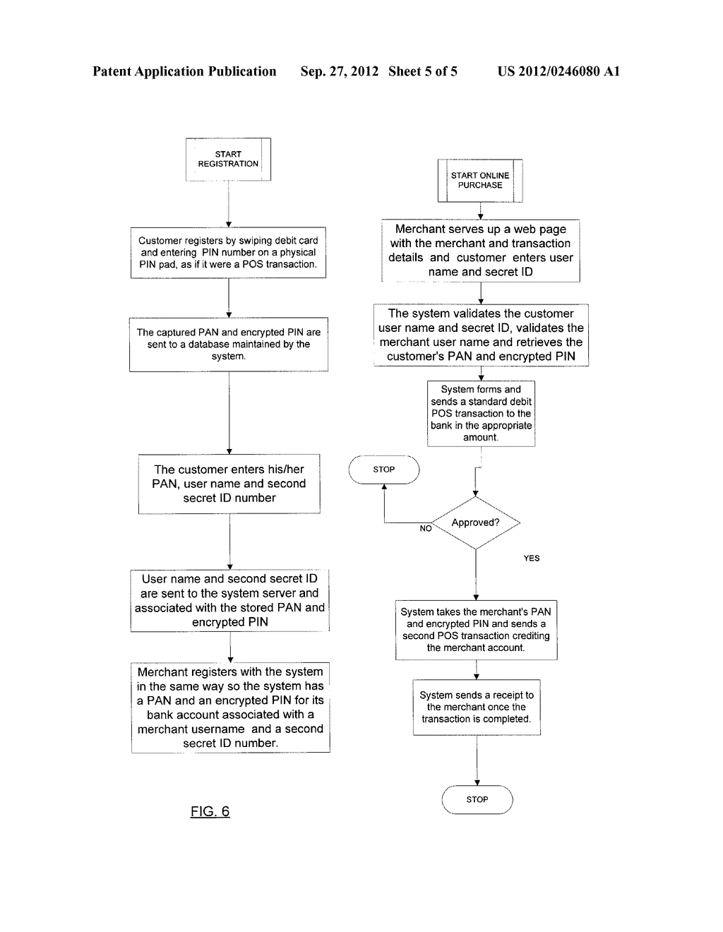 METHOD AND SYSTEM FOR REAL TIME ONLINE DEBIT TRANSACTIONS - diagram, schematic, and image 06