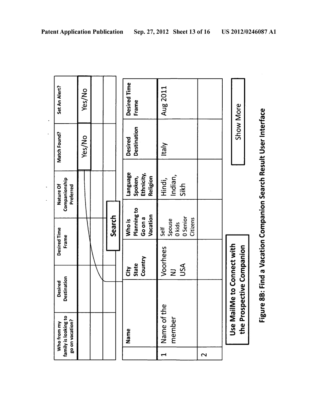 Method and apparatus for establishing an exclusive network of Strong Tie     connections which is then used to make referenceable connections between     members for various personal and business benefits - diagram, schematic, and image 14