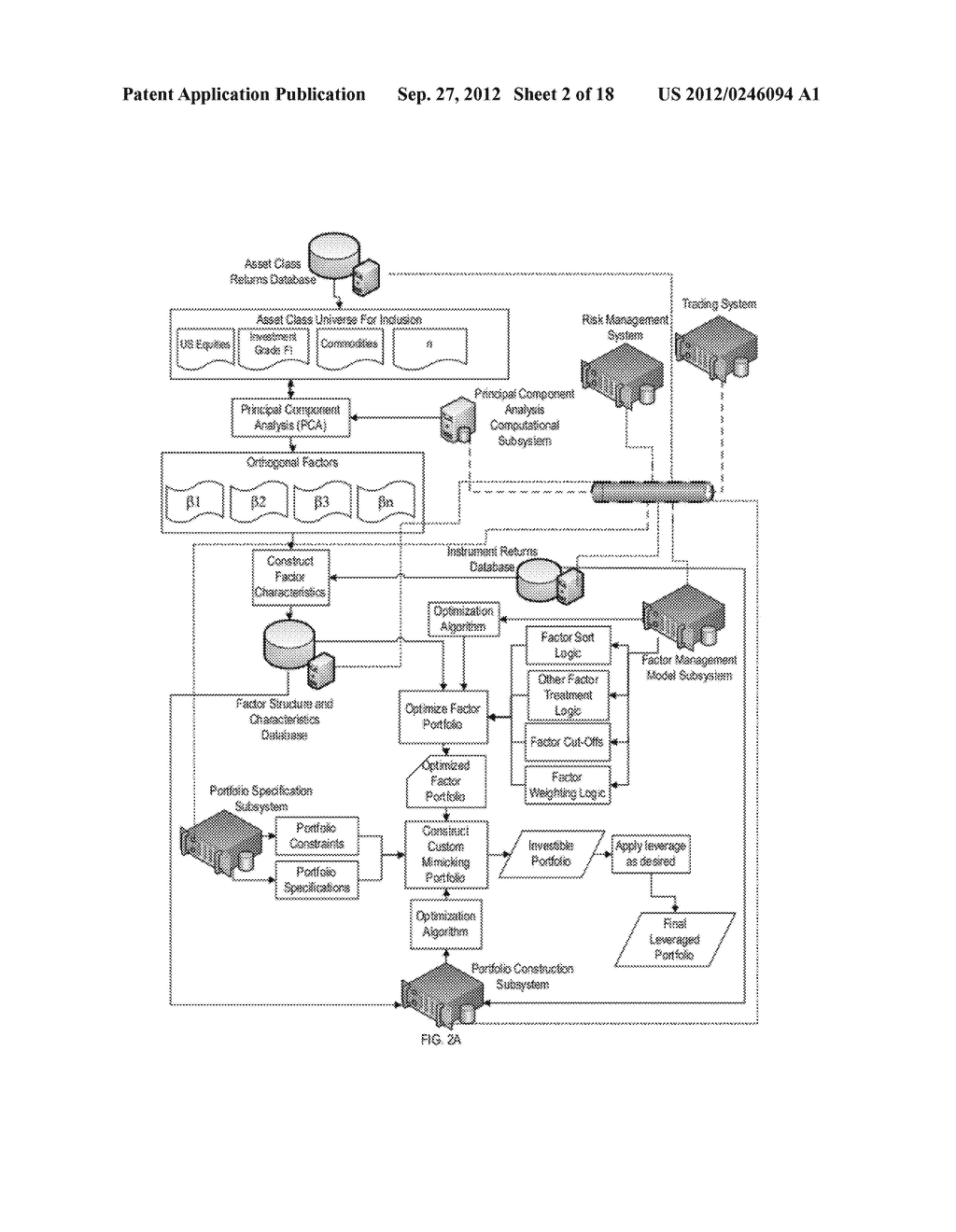 SYSTEM, METHOD & COMPUTER PROGRAM PRODUCT FOR CONSTRUCTING AN OPTIMIZED     FACTOR PORTFOLIO - diagram, schematic, and image 03