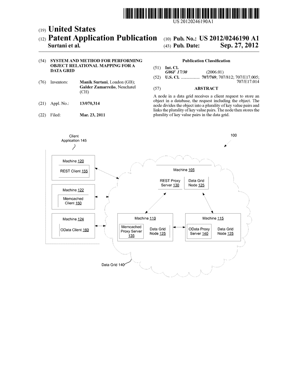 SYSTEM AND METHOD FOR PERFORMING OBJECT RELATIONAL MAPPING FOR A DATA GRID - diagram, schematic, and image 01