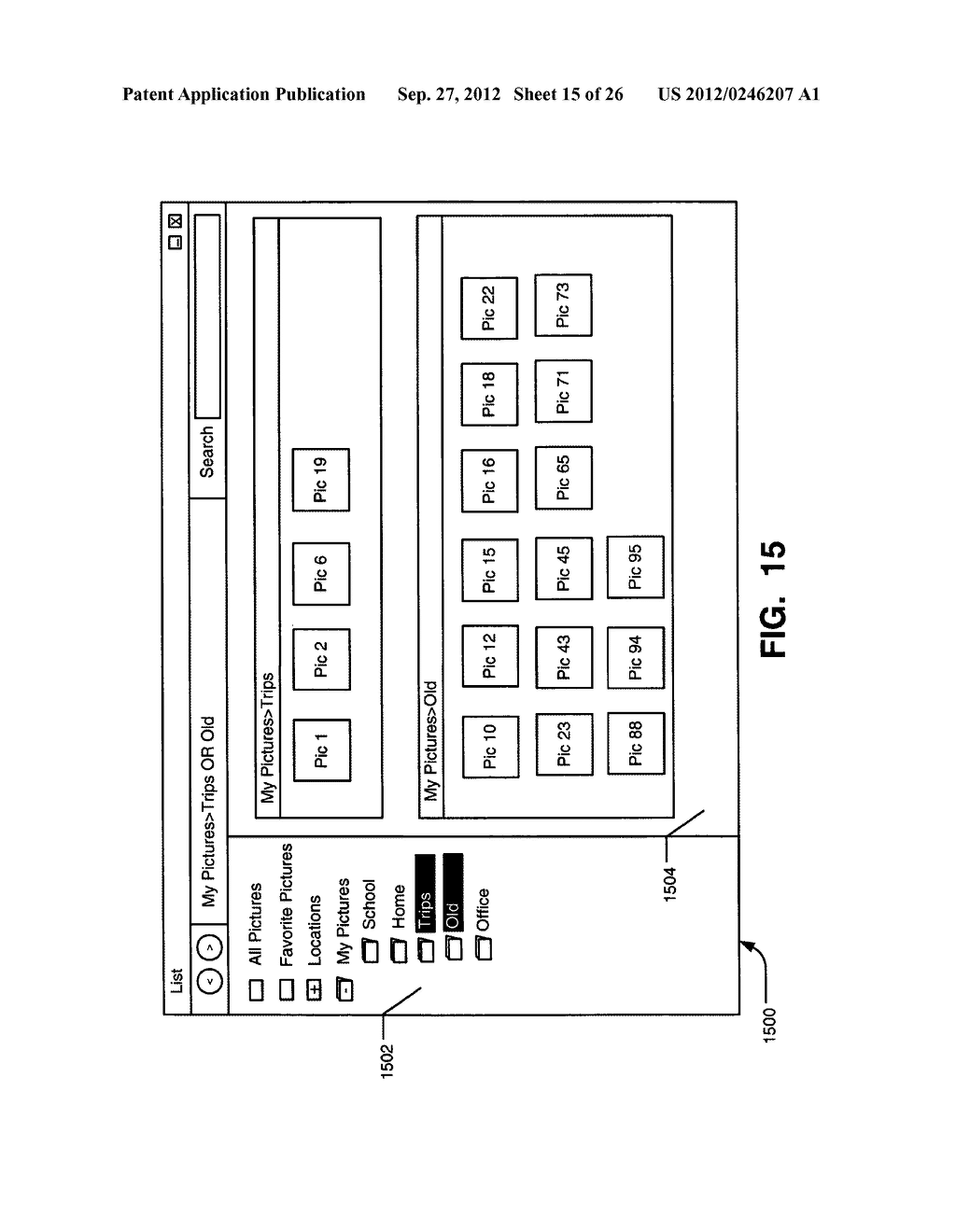 SYSTEMS, METHODS, AND USER INTERFACES FOR STORING, SEARCHING, NAVIGATING,     AND RETRIEVING ELECTRONIC INFORMATION - diagram, schematic, and image 16