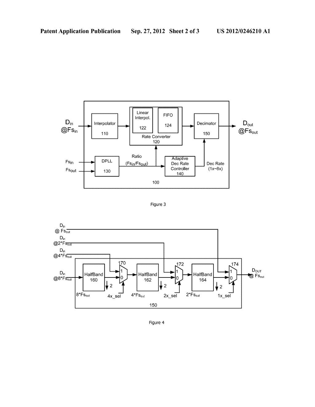 METHOD AND APPARATUS FOR ADAPTIVE CONTROL OF THE DECIMATION RATIO IN     ASYNCHRONOUS SAMPLE RATE CONVERTERS - diagram, schematic, and image 03