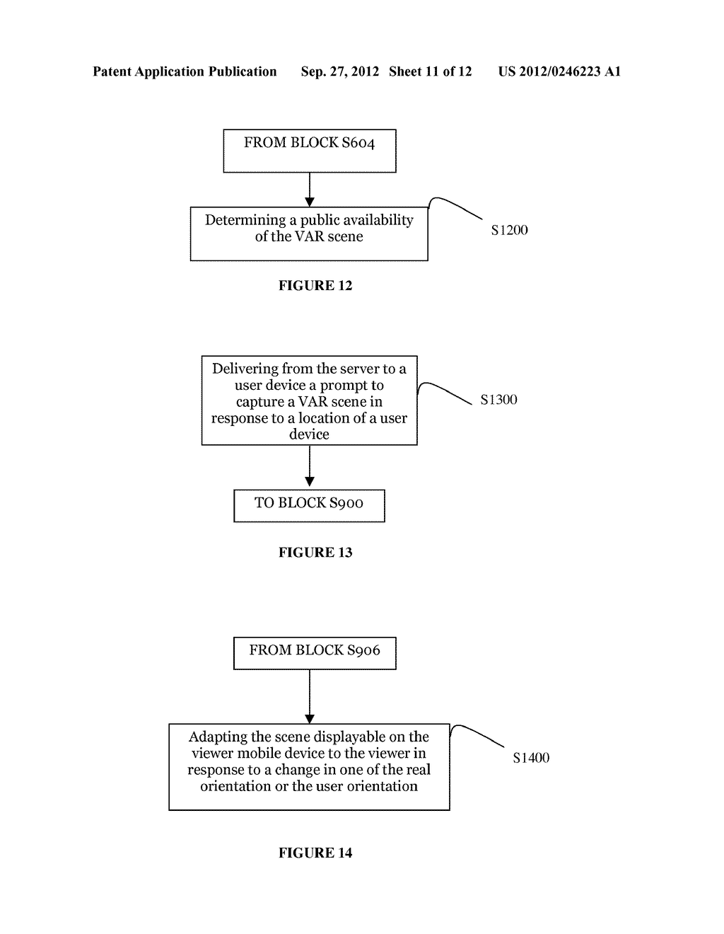 SYSTEM AND METHOD FOR DISTRIBUTING VIRTUAL AND AUGMENTED REALITY SCENES     THROUGH A SOCIAL NETWORK - diagram, schematic, and image 12