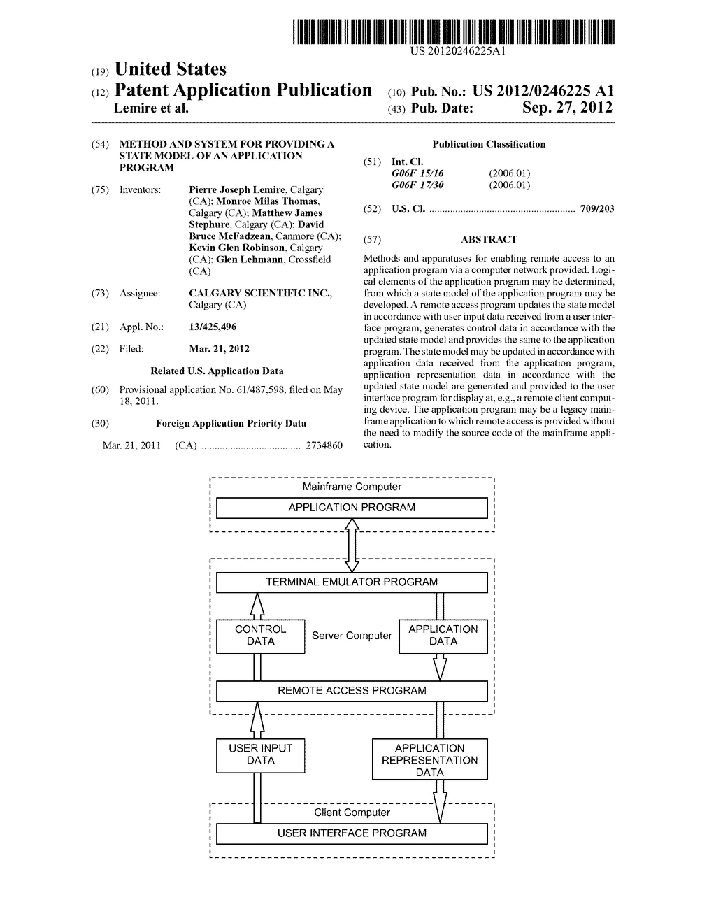 METHOD AND SYSTEM FOR PROVIDING A STATE MODEL OF AN APPLICATION PROGRAM - diagram, schematic, and image 01
