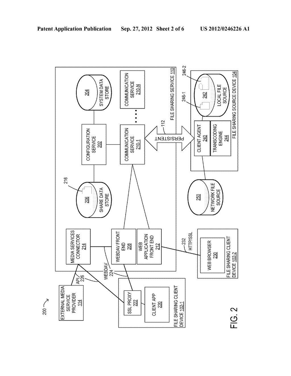 SYSTEM AND METHOD FOR SHARING DATA FROM A LOCAL NETWORK TO A REMOTE DEVICE - diagram, schematic, and image 03