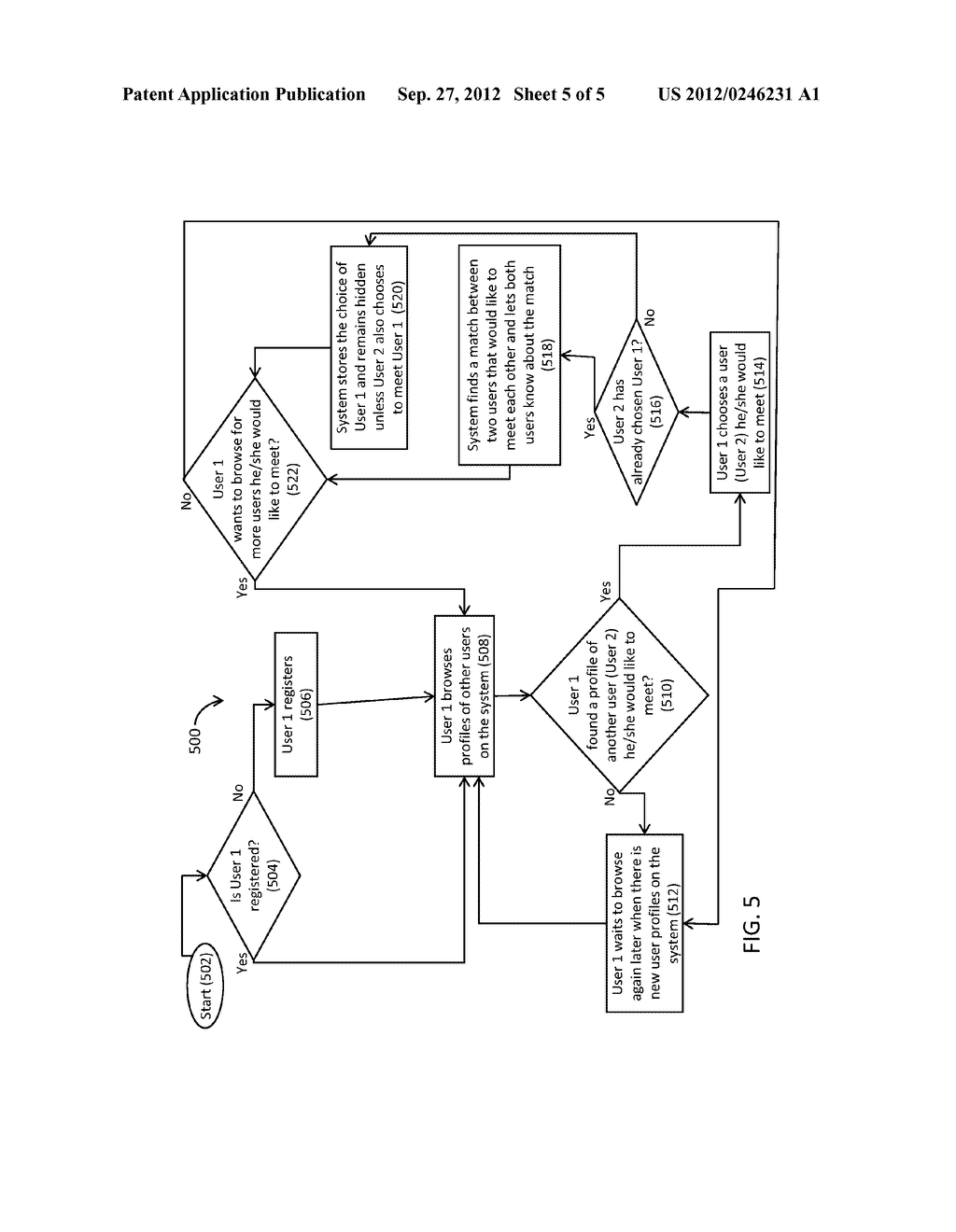 SYSTEM AND METHOD FOR MATCHING BY RECIPROCITY USING HIDDEN SELECTIONS - diagram, schematic, and image 06