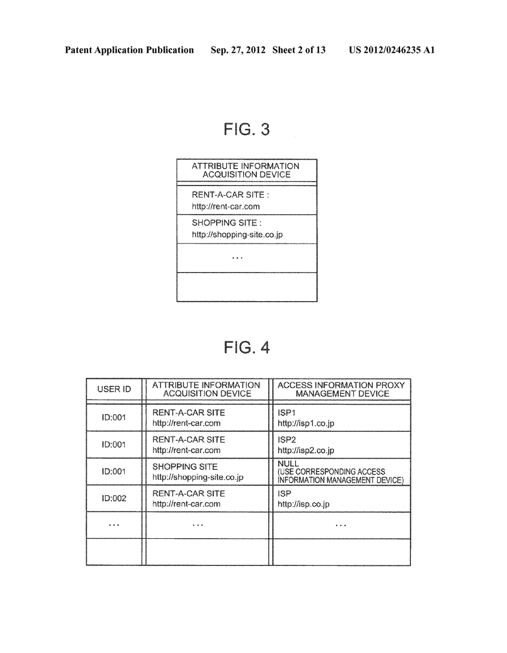 ATTRIBUTE INFORMATION SHARING PROVIDING SYSTEM, ACCESS INFORMATION     MANAGEMENT DEVICE, ACCESS INFORMATION PROXY MANAGEMENT DEVICE, METHOD AND     PROGRAM THEREFOR - diagram, schematic, and image 03